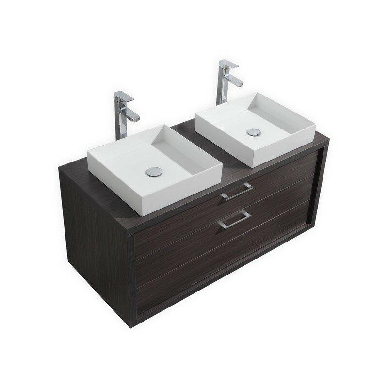 """Bathroom Vanity 48 Inch Double Sink: Kube Bath Tucci 48"""" Double Sink Modern Bathroom Vanity"""