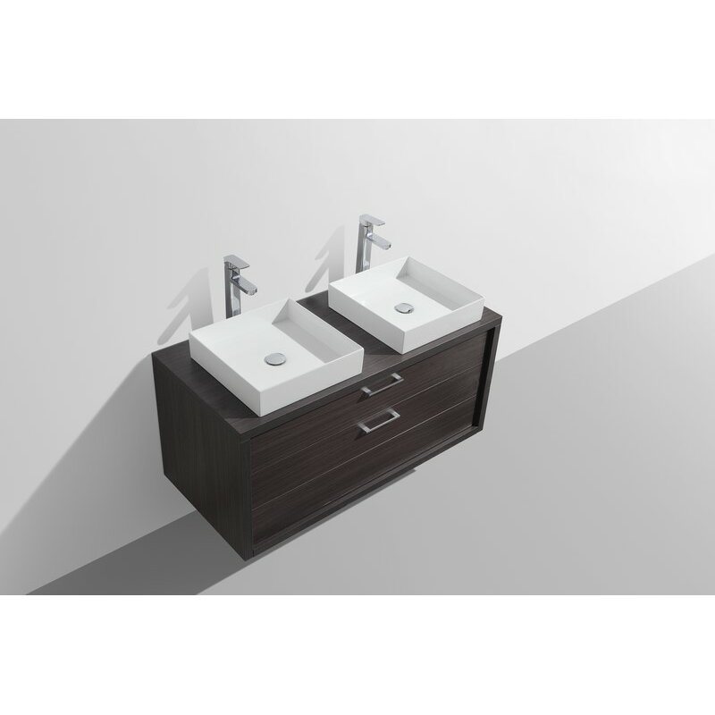 Kube Bath Tucci 48 Double Sink Modern Bathroom Vanity Reviews W