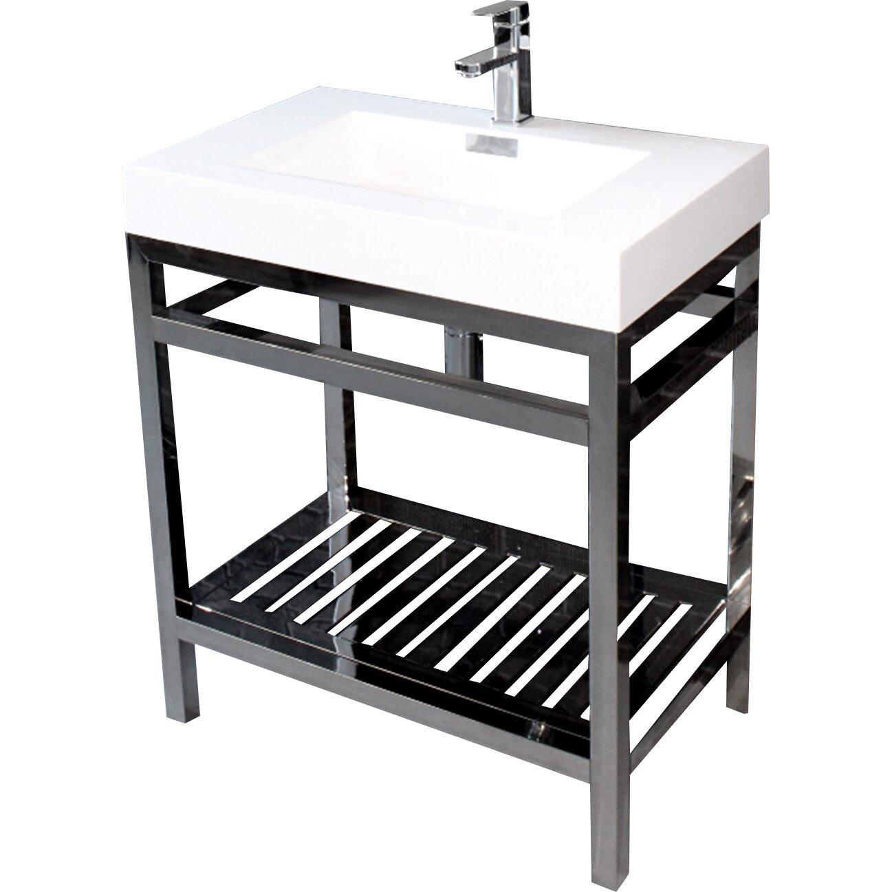Kube Bath Cisco 30 Modern Stainless Steel Vanity Base