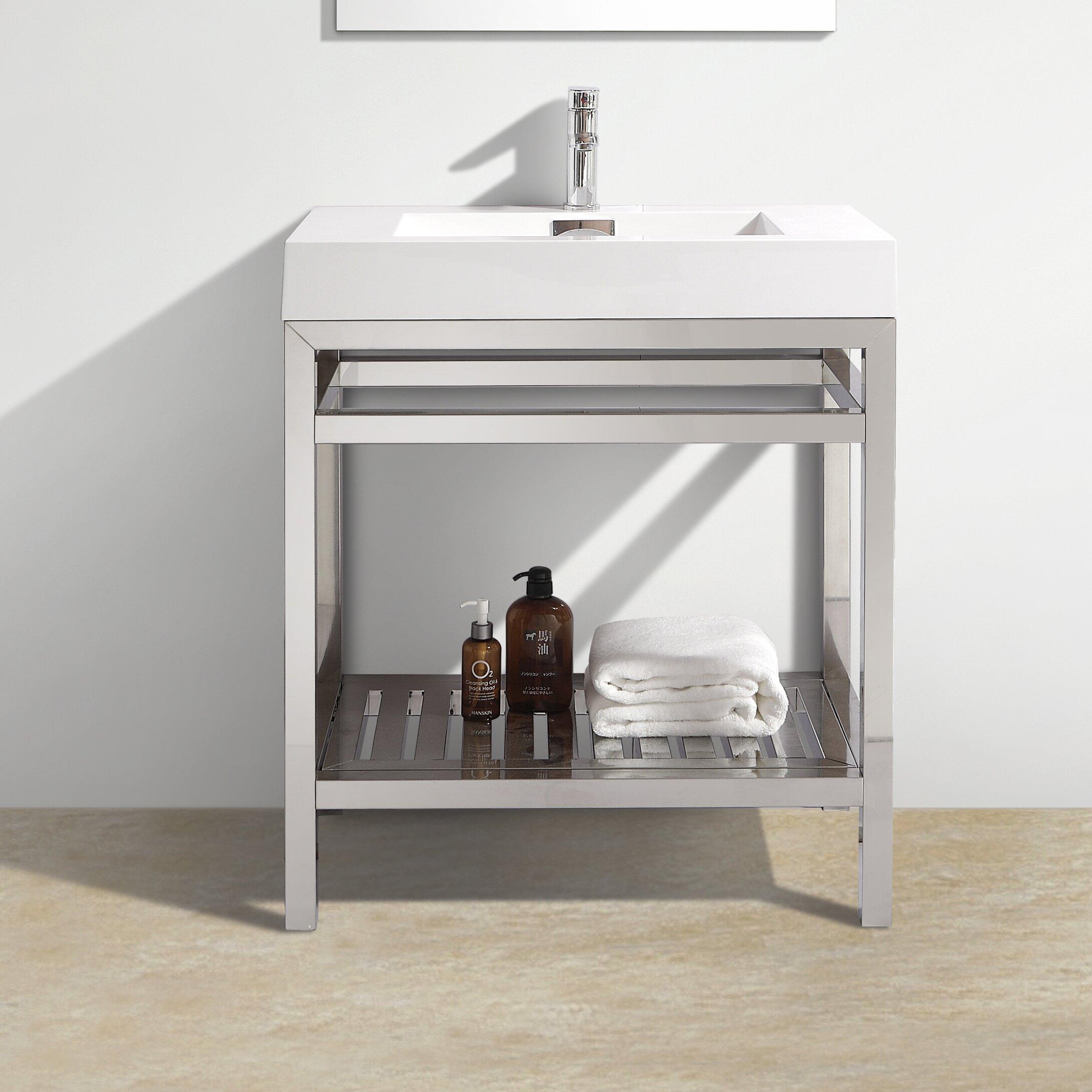 steel bathroom vanity. Stainless Steel Bathroom Vanity