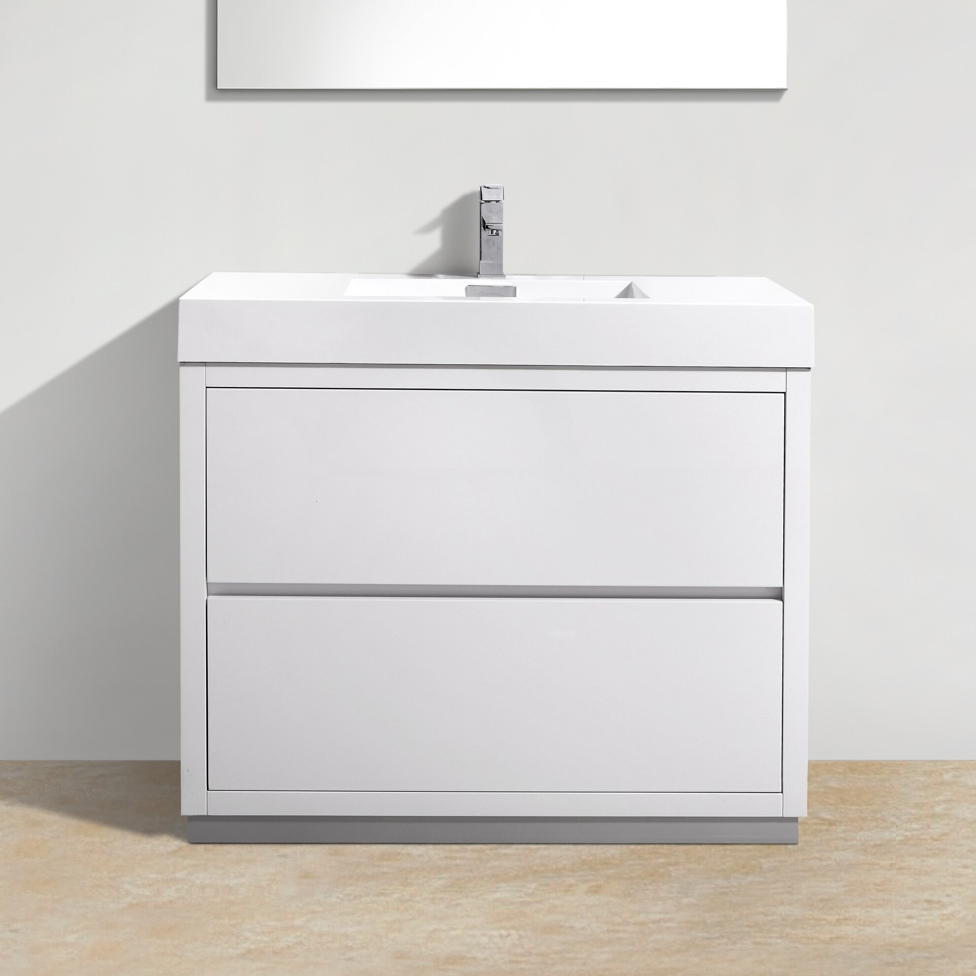 Kube Bath Bliss 40 Single Free Standing Modern Bathroom Vanity Set Reviews Wayfair