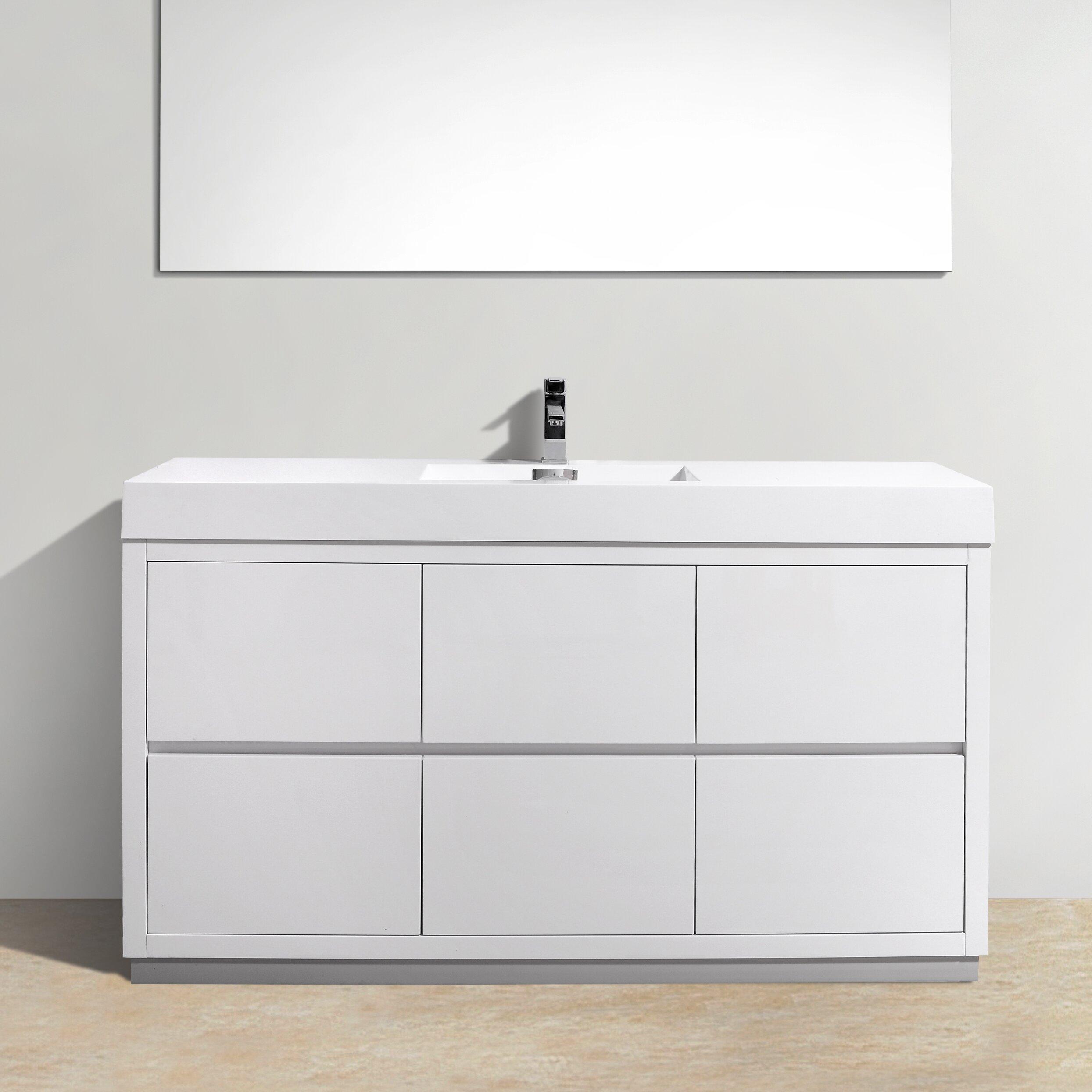 Kube Bath Bliss 60 Single Free Standing Modern Bathroom Vanity Set Reviews