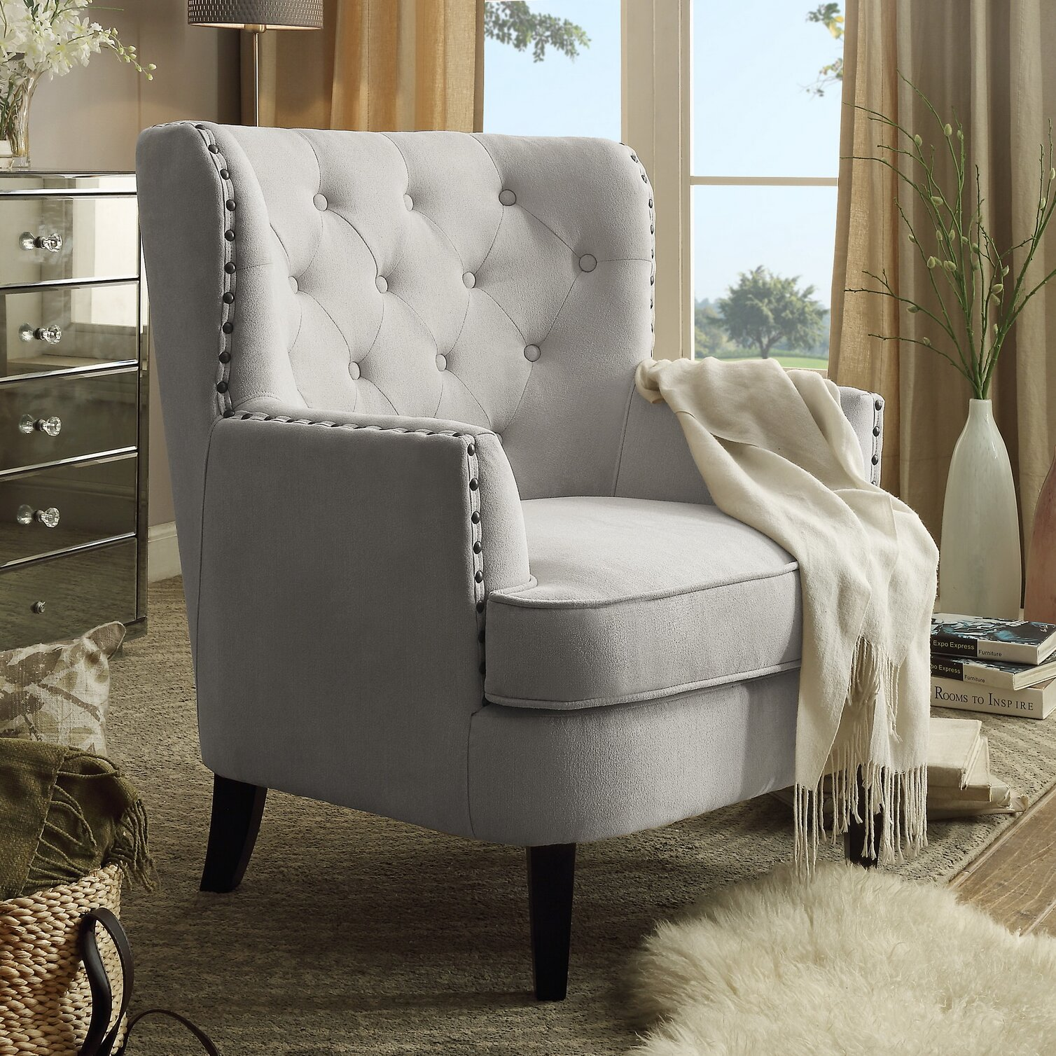 Next Furniture Living Room: INSTANT HOME Chrisanna Wingback Club Chair & Reviews