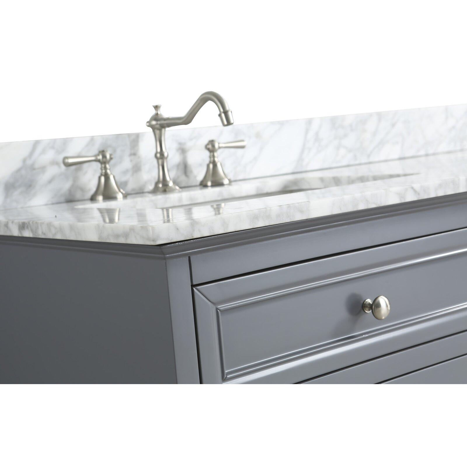 "Double Sink Mirrored Bathroom Vanity: Urban Furnishings Rochelle 60"" Double Bathroom Sink Vanity"