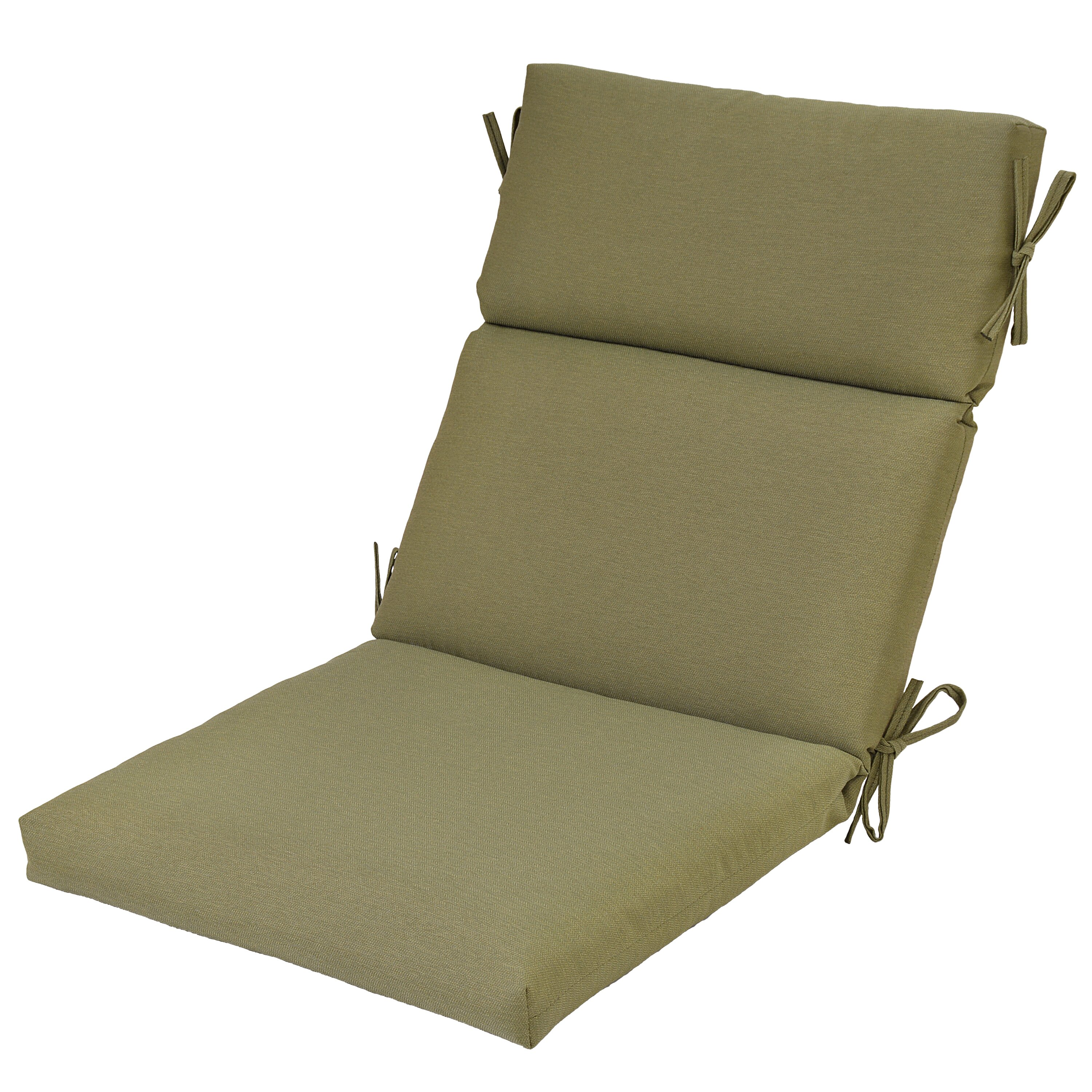 Shop allen roth sunbrella canvas teak brown deep seat for Garden furniture cushions