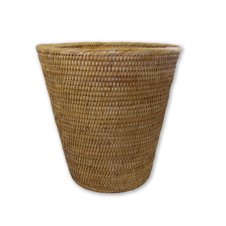 Artifacts trading rattan round taper waste basket reviews wayfair - Rattan waste basket ...