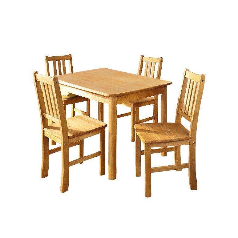Hokku Designs Maine Dining Table And 4 Chairs Wayfair Uk