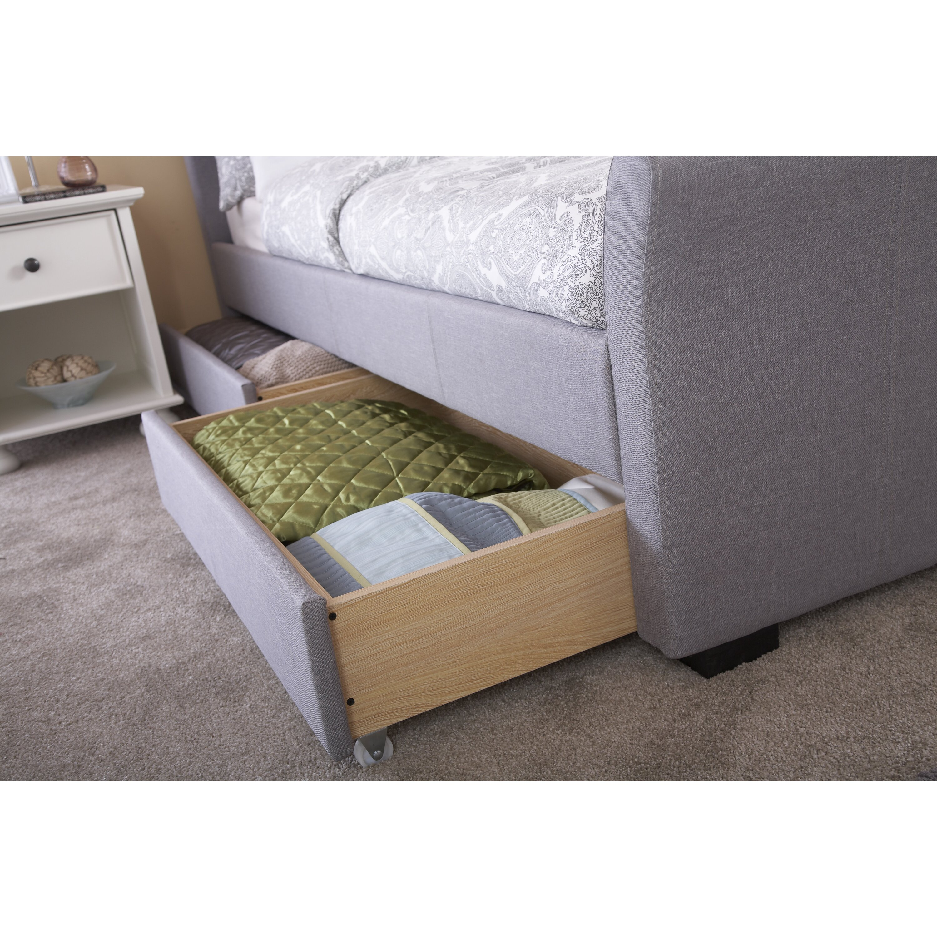 Home loft concept hannah upholstered storage bed reviews for Home loft concept bunk bed