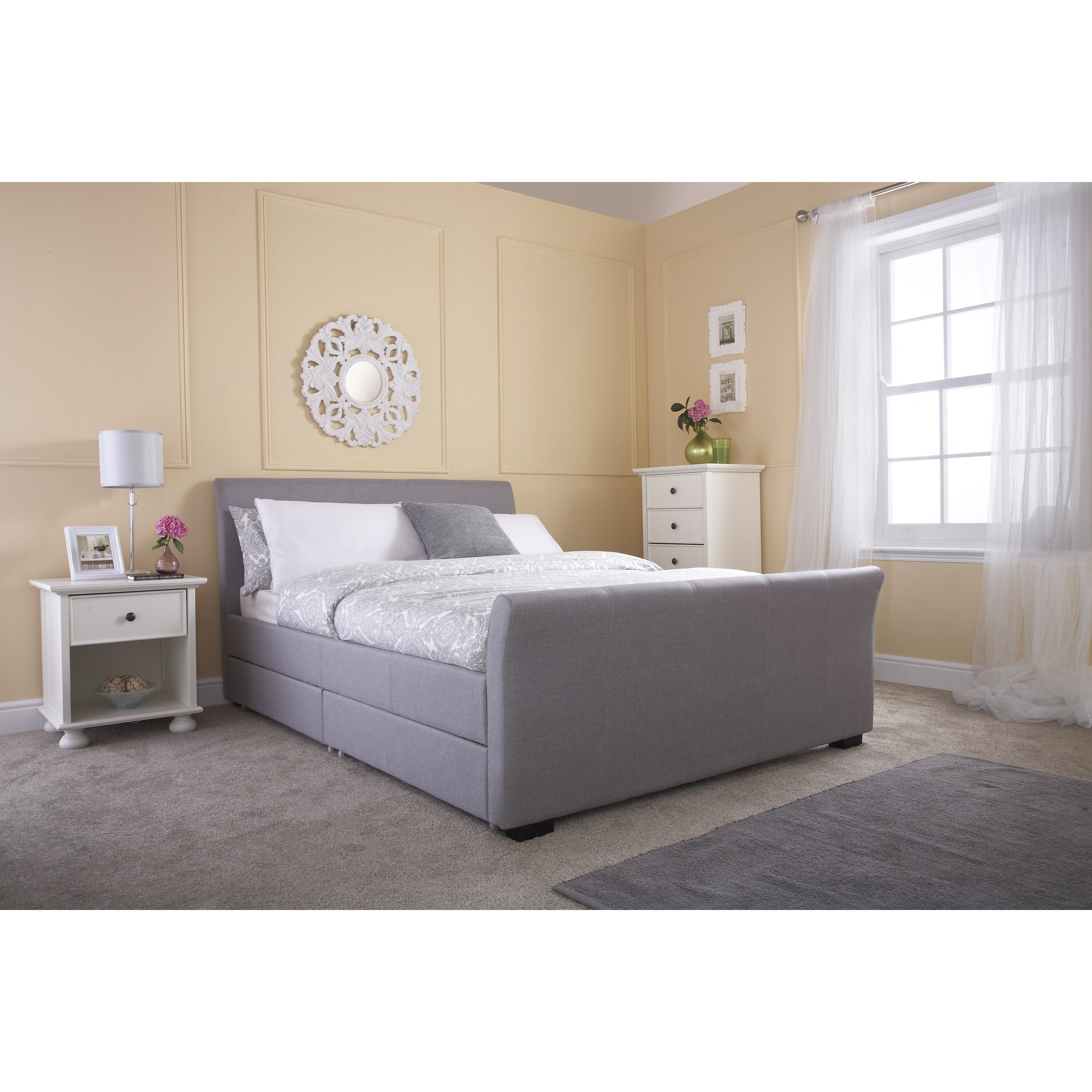 Home Loft Concept Hannah Upholstered Storage Bed Reviews