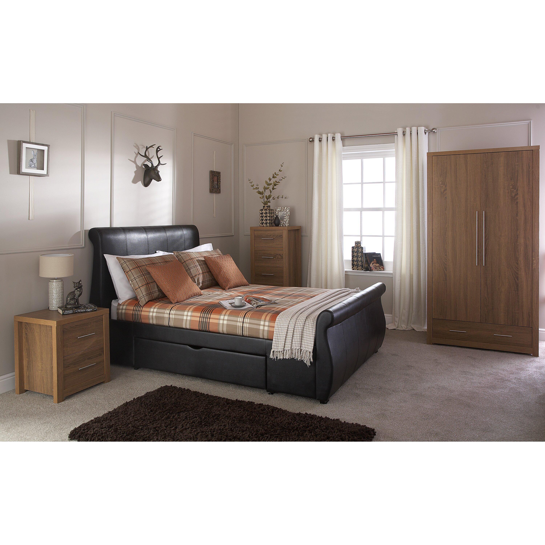 home loft concept henrick 2 door wardrobe wayfair uk. Black Bedroom Furniture Sets. Home Design Ideas
