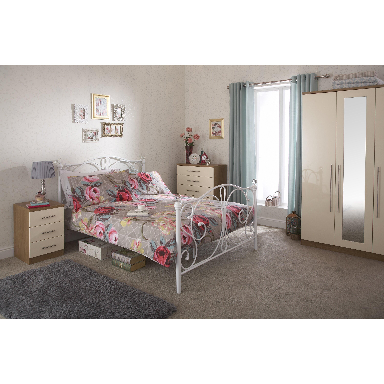 home loft concept kendall 3 drawer bedside table reviews. Black Bedroom Furniture Sets. Home Design Ideas