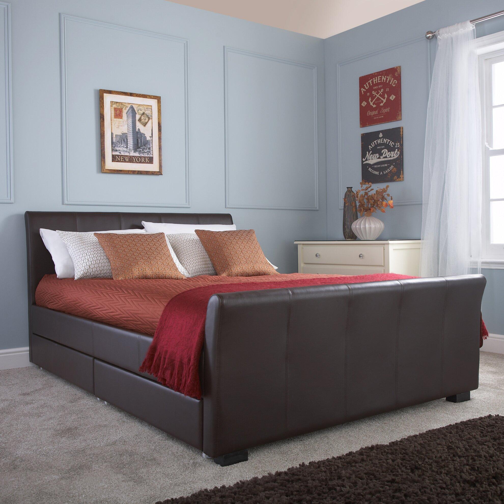 home loft concept hannah upholstered storage bed reviews wayfair uk. Black Bedroom Furniture Sets. Home Design Ideas