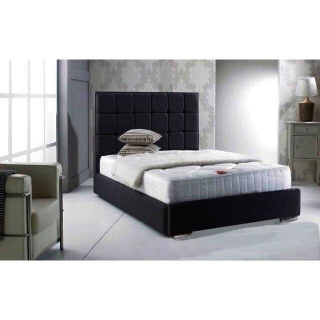 home loft concept gador upholstered bed frame reviews wayfair uk. Black Bedroom Furniture Sets. Home Design Ideas