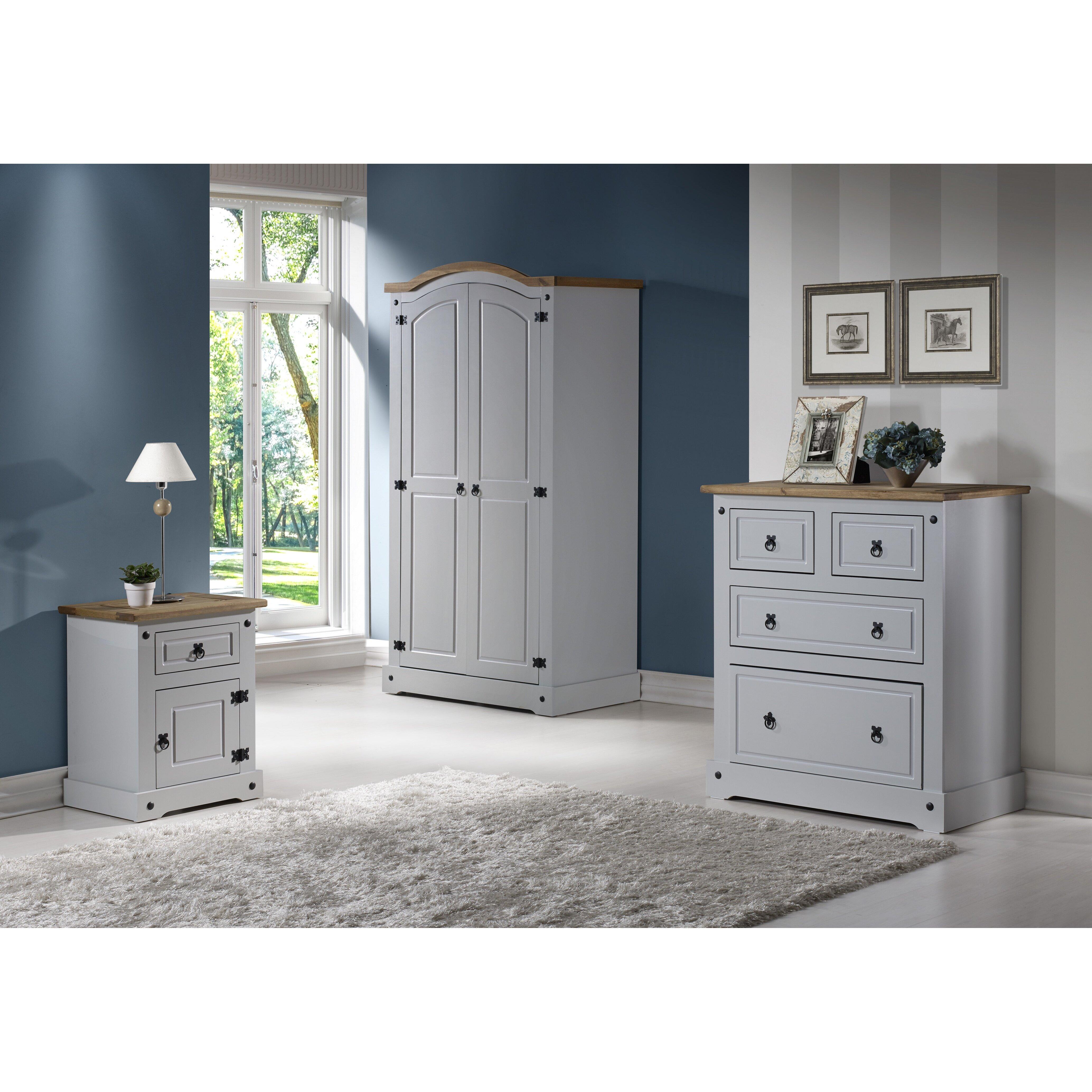 home loft concept corona 2 door wardrobe reviews wayfair uk. Black Bedroom Furniture Sets. Home Design Ideas