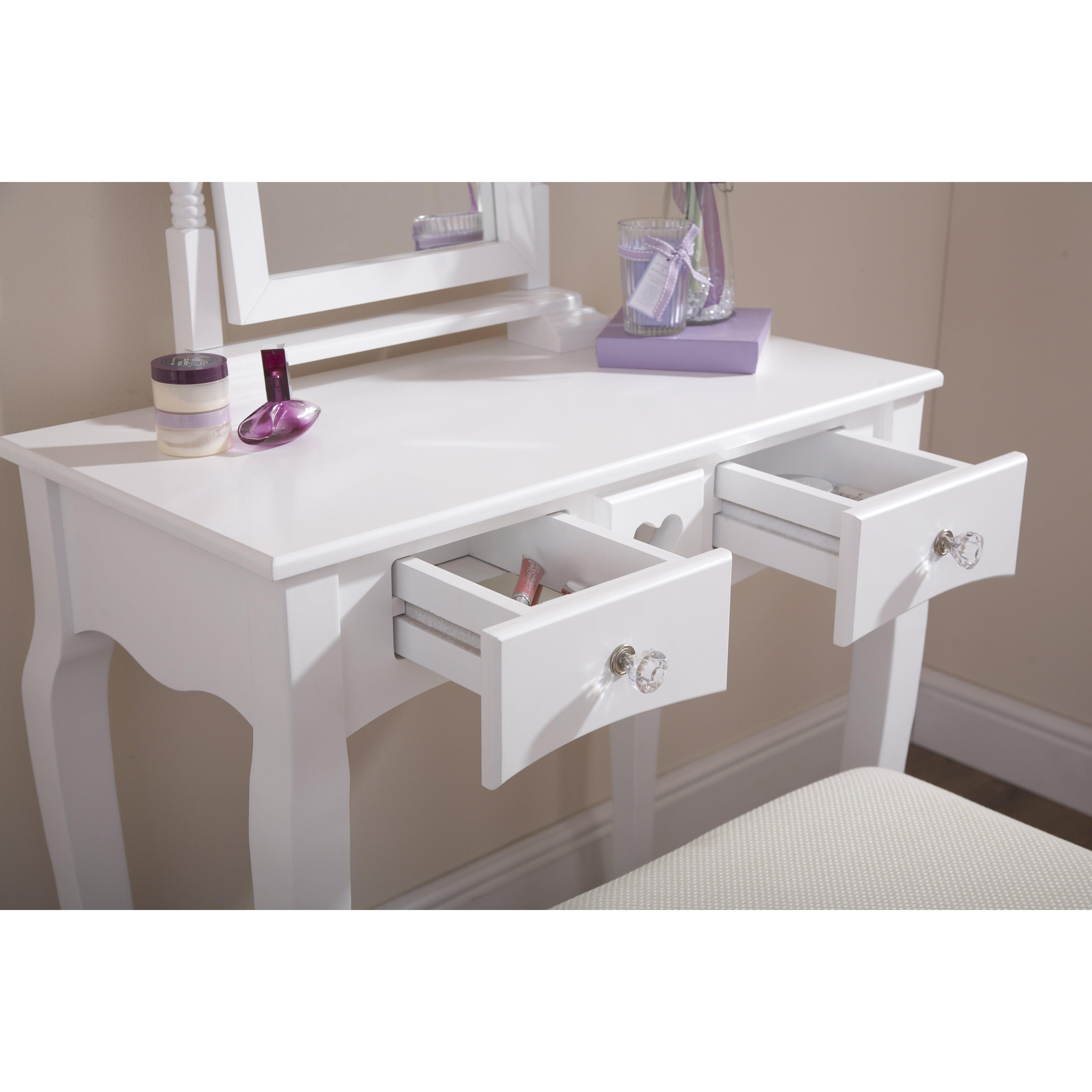 hazelwood home schminktisch set mit spiegel bewertungen. Black Bedroom Furniture Sets. Home Design Ideas