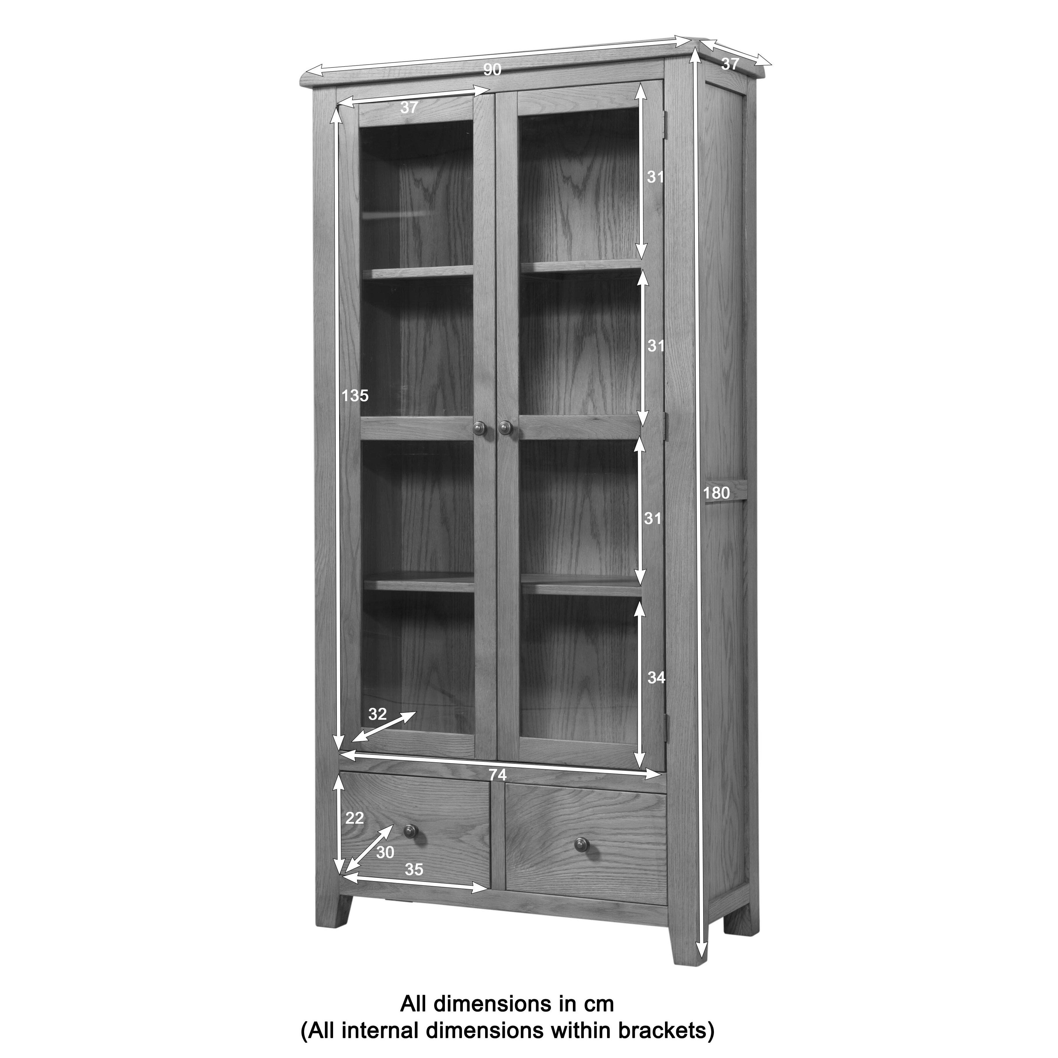 Display Cabinets For Home: Hazelwood Home Rothbury Display Cabinet