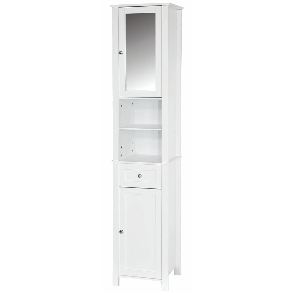 tall free standing bathroom cabinets wildon home vida 40 x 190cm mirrored free standing 27006
