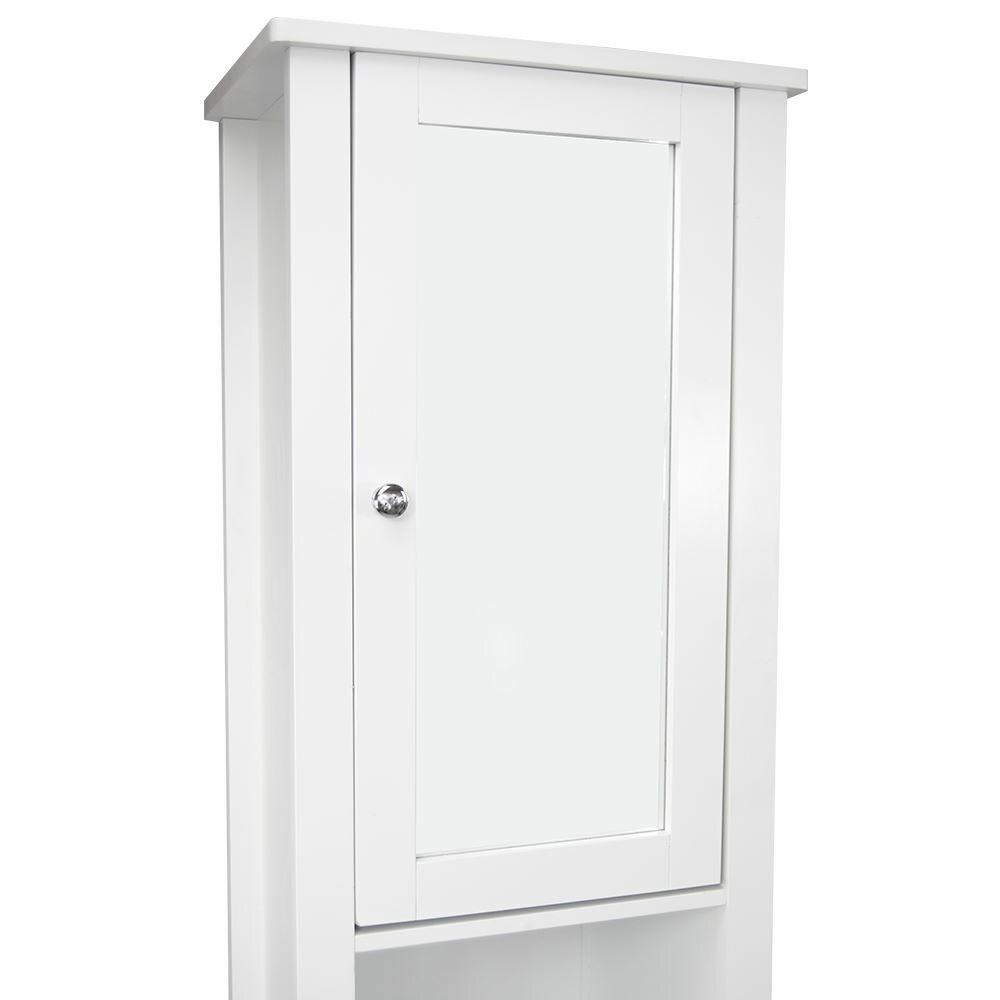 40 x 190cm mirrored free standing tall bathroom cabinet by wildon home