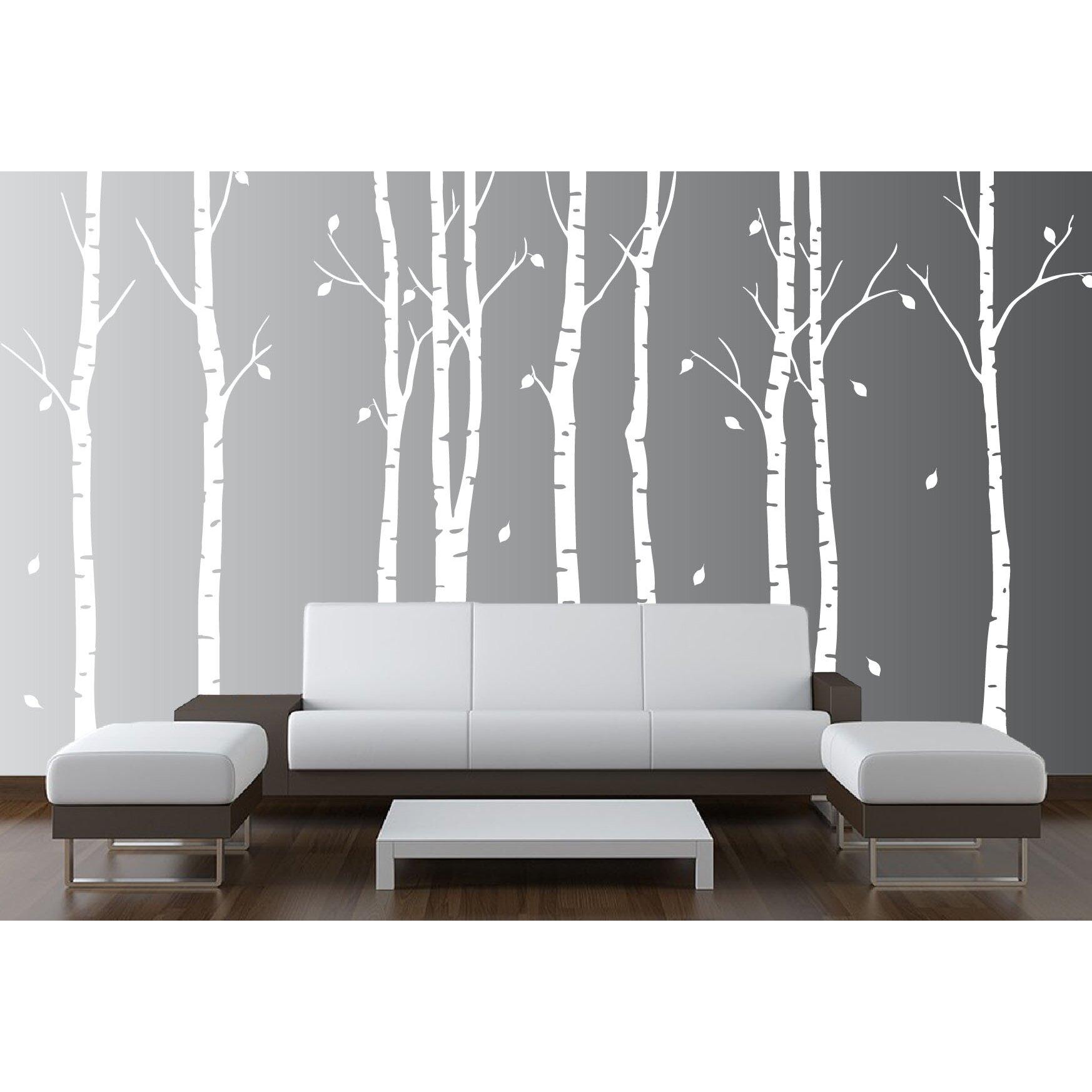 Innovative Stencils Birch Tree Nursery Forest Vinyl
