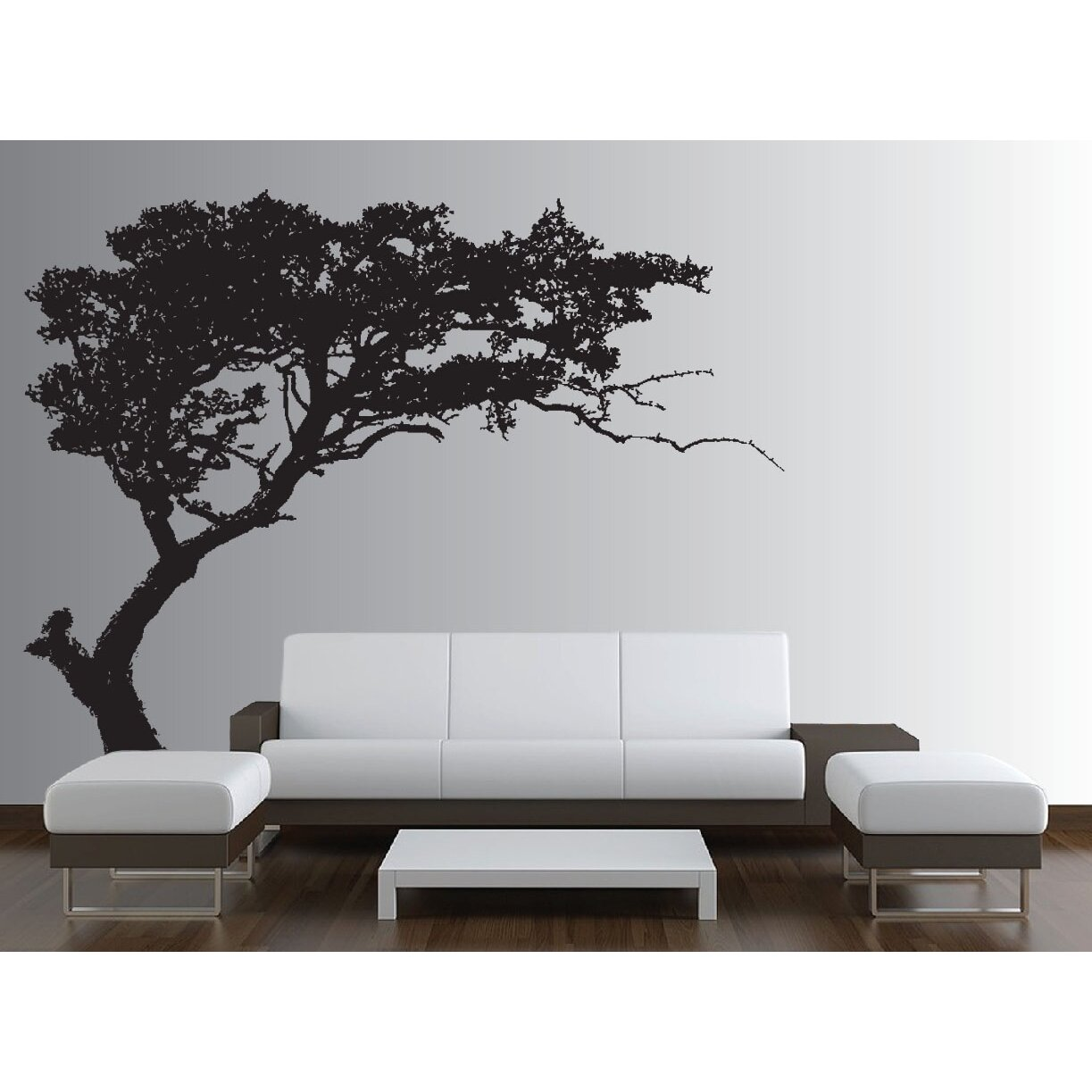 innovative stencils tree decal forest decor nursery wall decal reviews wayfair. Black Bedroom Furniture Sets. Home Design Ideas