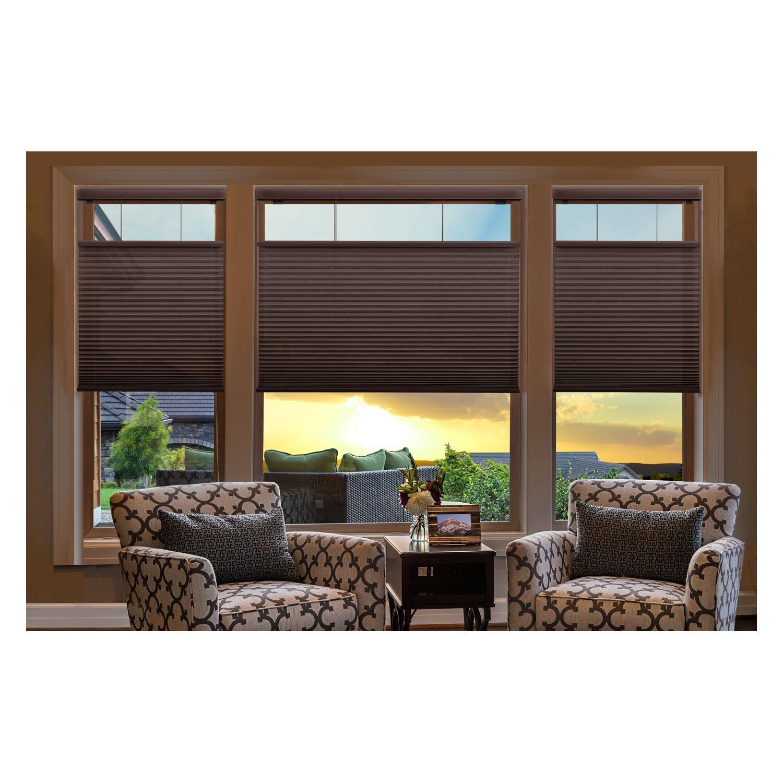 linen avenue cordless top down bottom up light filtering cellular shade. Black Bedroom Furniture Sets. Home Design Ideas