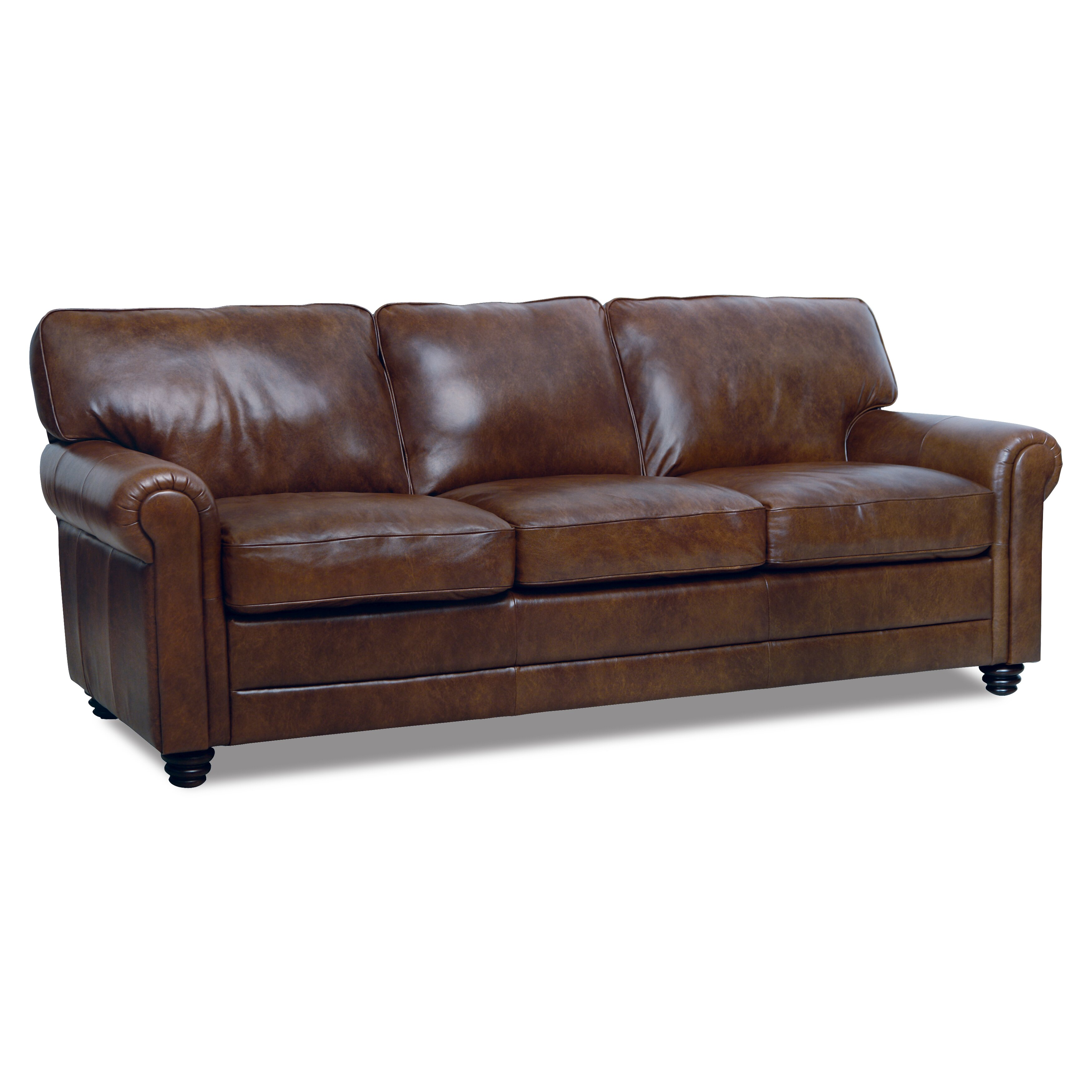 Canora grey clairsville leather sofa reviews wayfair for Leather sofa reviews