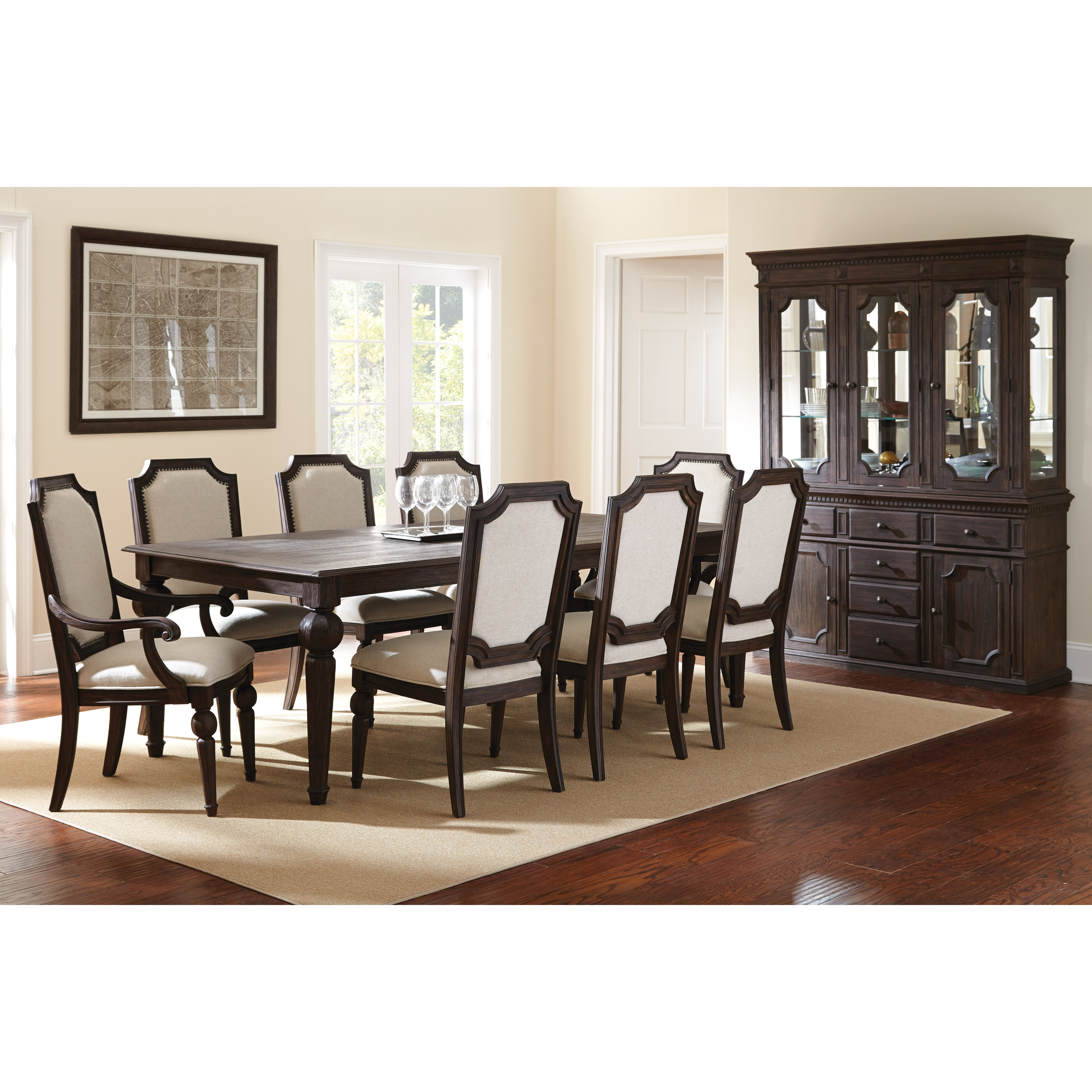 Canora grey shadwell 11 piece dining set wayfair for Dining room tables 11 piece