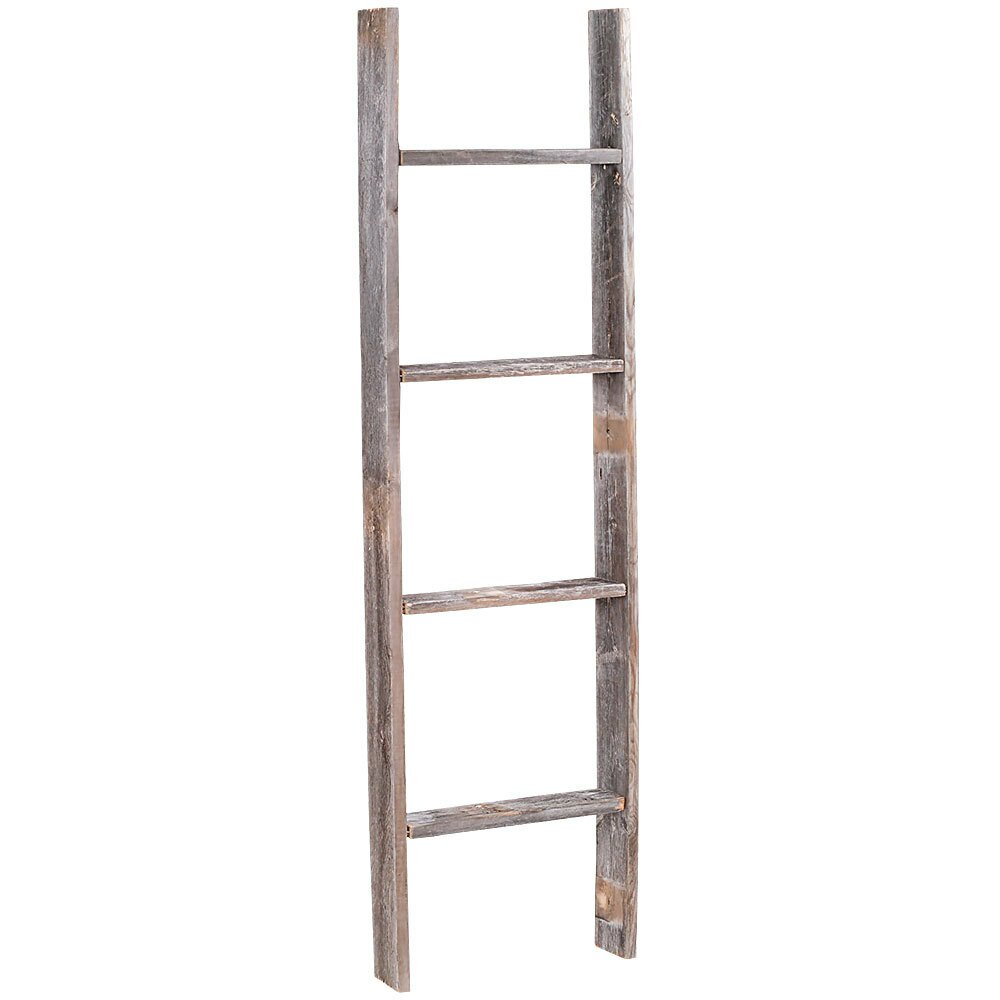 RusticDecor 4 ft Wood Rustic Decorative Straight Ladder  u0026 Reviews   Wayfair