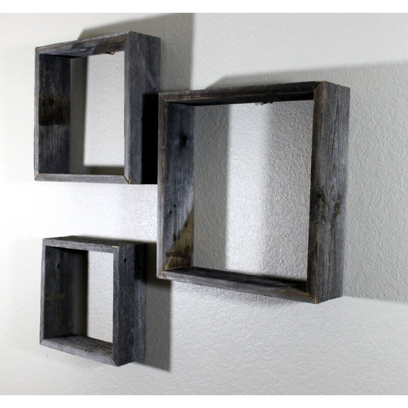 Glass Shelf Wall Decor : Rusticdecor piece wooden shelves wall decor reviews wayfair