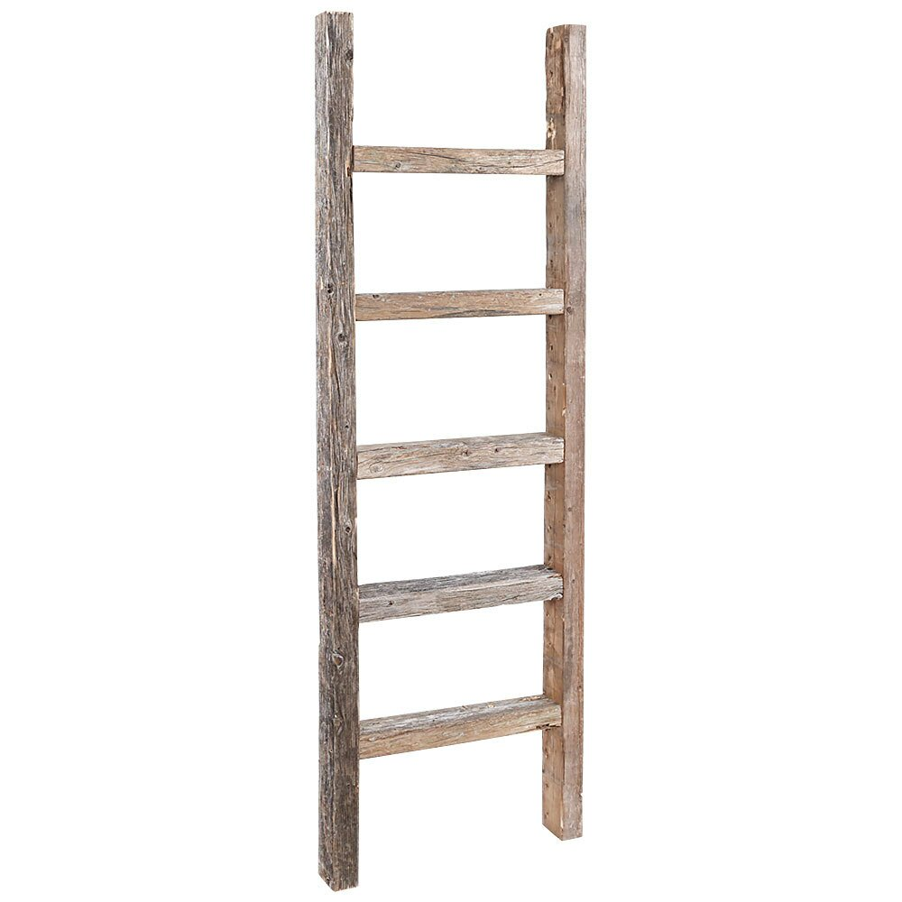 RusticDecor 4 ft Wood Decorative Straight Ladder  u0026 Reviews   Wayfair