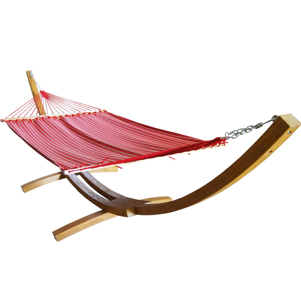 Backyard Hammock Reviews : Prime Garden Sunbrella Fabric Hammock with Stand & Reviews  Wayfair