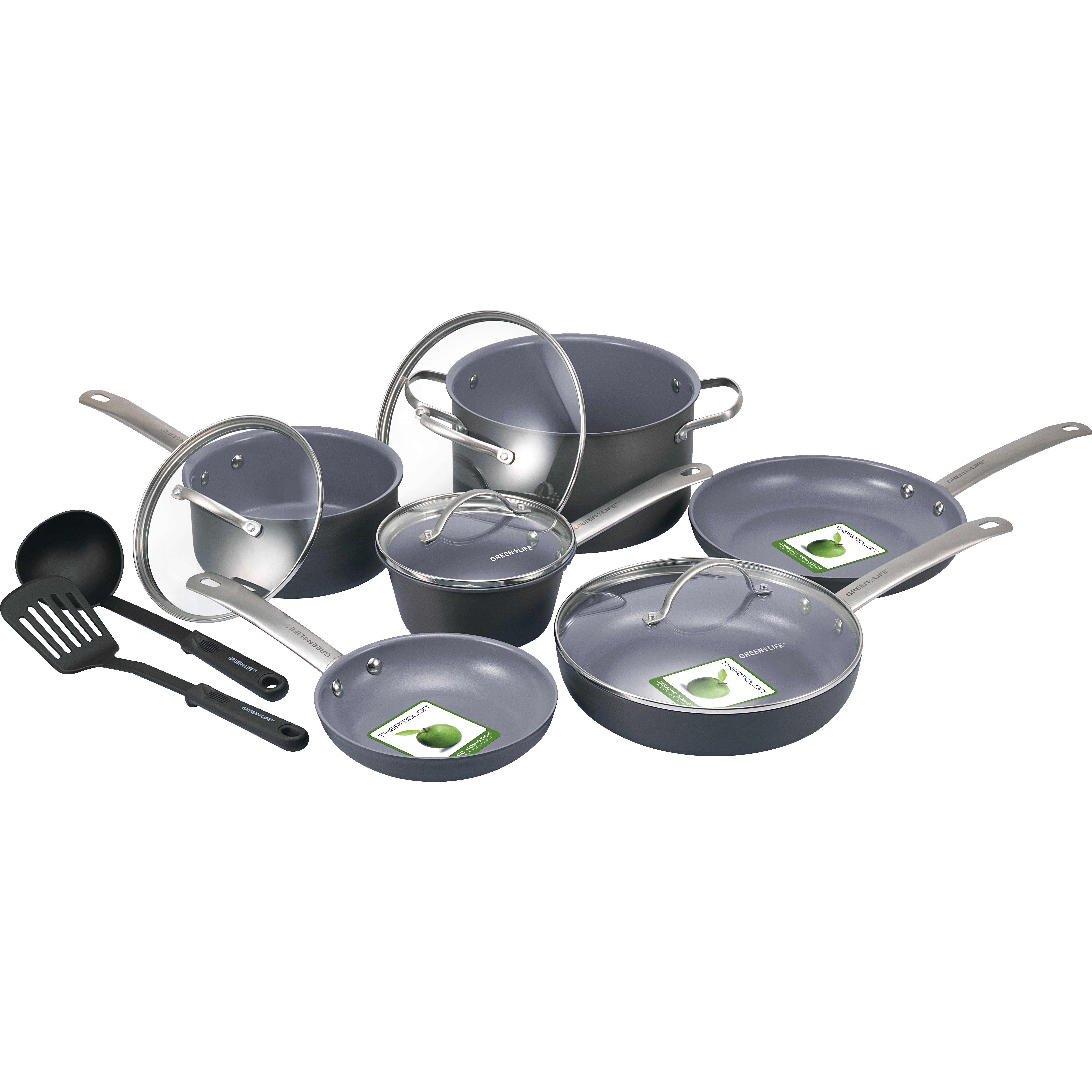 Greenlife Gourmet 12 Piece Non Stick Cookware Set