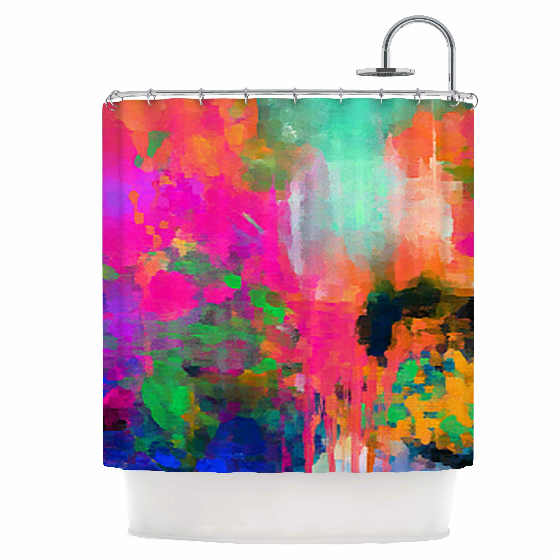 east urban home montesilvano abstract shower curtain wayfair