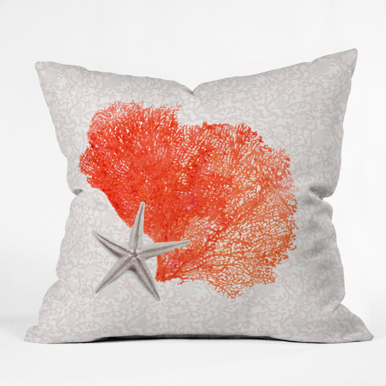 East Urban Home Hadley Hutton Coral Sea Throw Pillow & Reviews Wayfair
