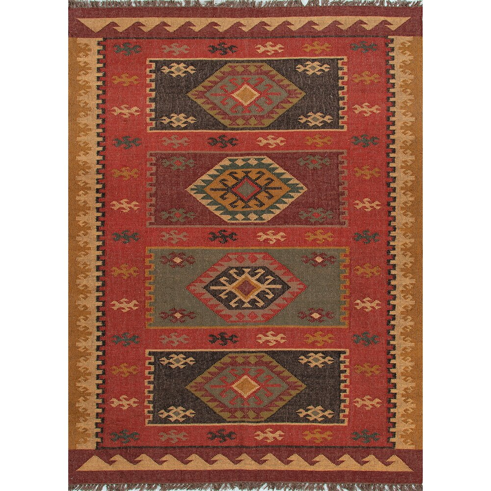 The Conestoga Trading Co Tyler Hand Woven Red Area Rug