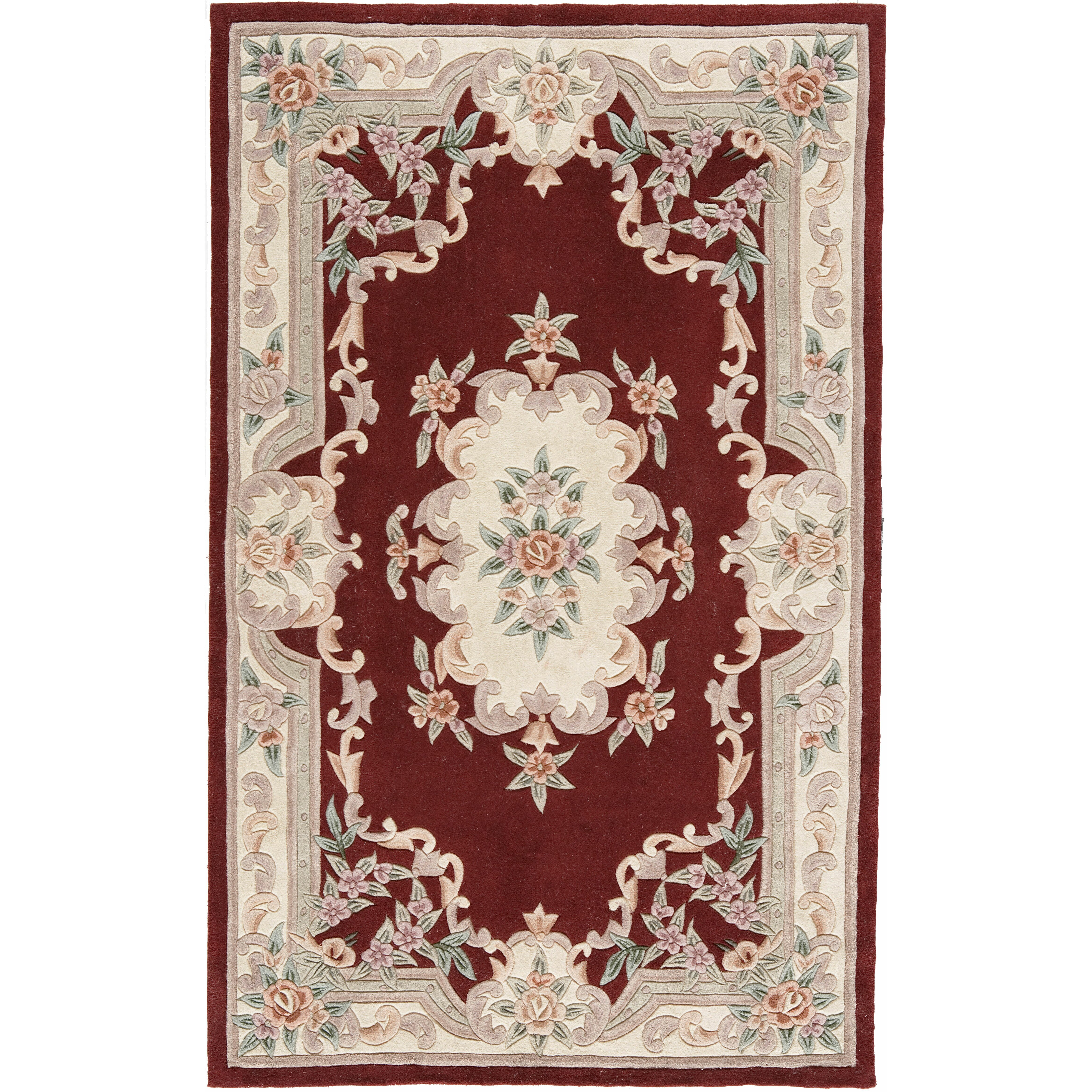 The conestoga trading co hand tufted burgundy oriental for The rug company rugs