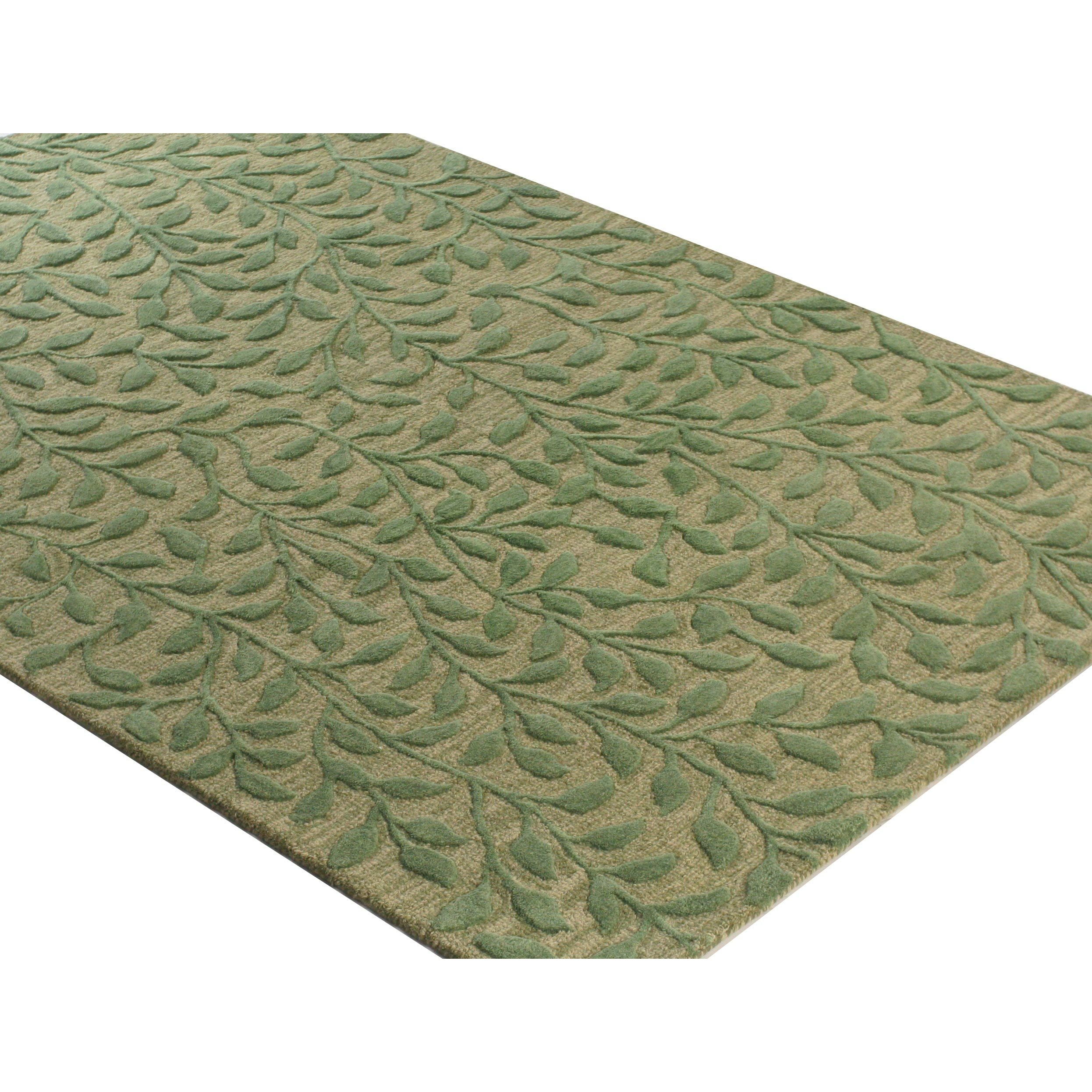The Conestoga Trading Co Hand Tufted Light Green Area Rug