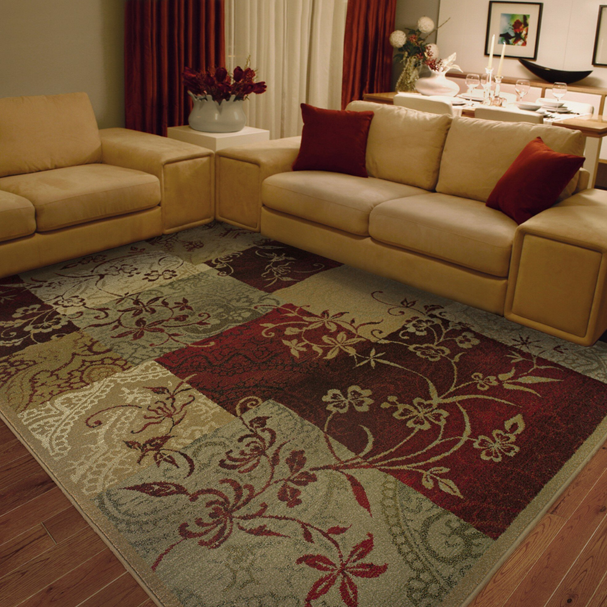 the conestoga trading co liam beige red area rug reviews wayfair. Black Bedroom Furniture Sets. Home Design Ideas