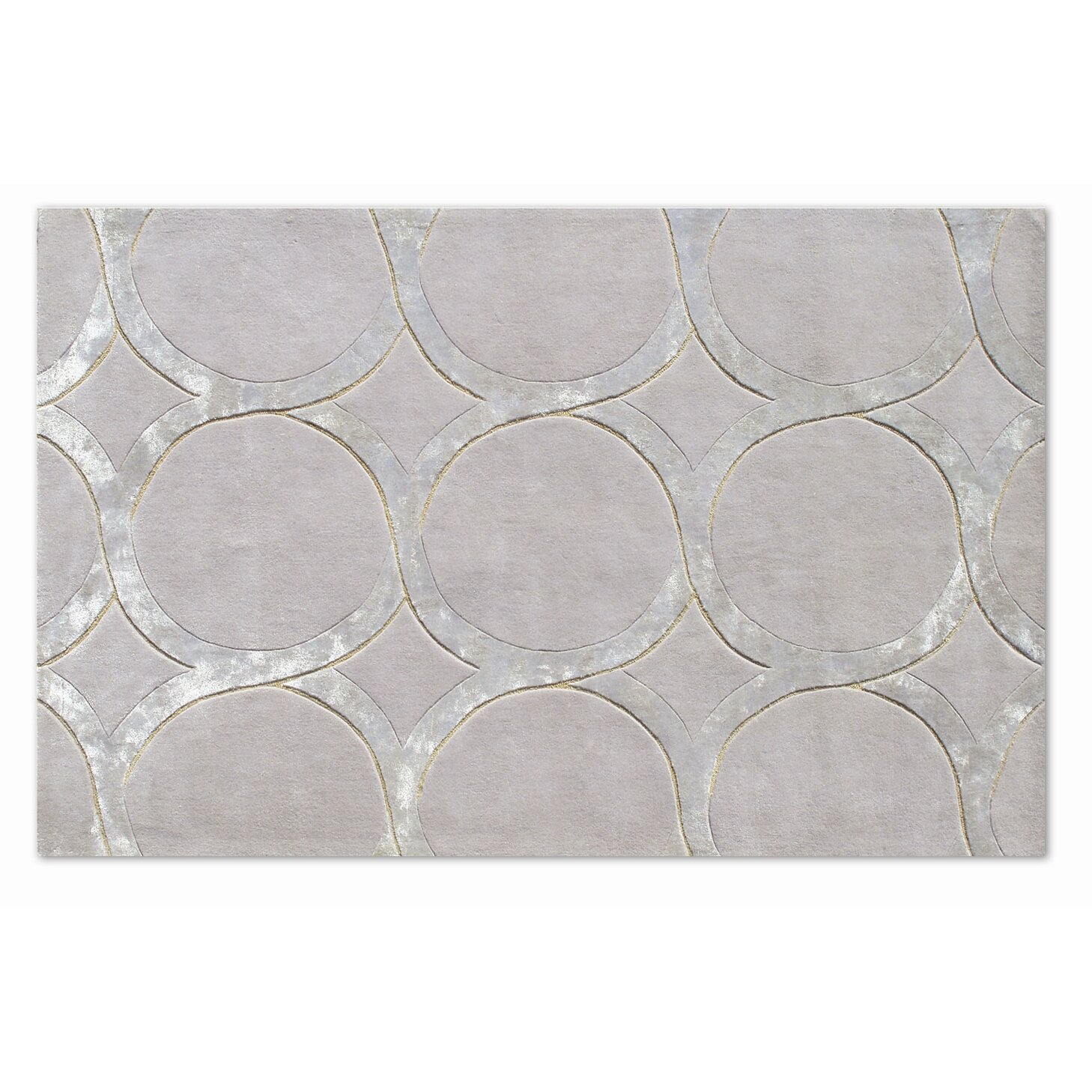 Meridian Rugmakers Murmansk Hand Tufted Gray Silver Area