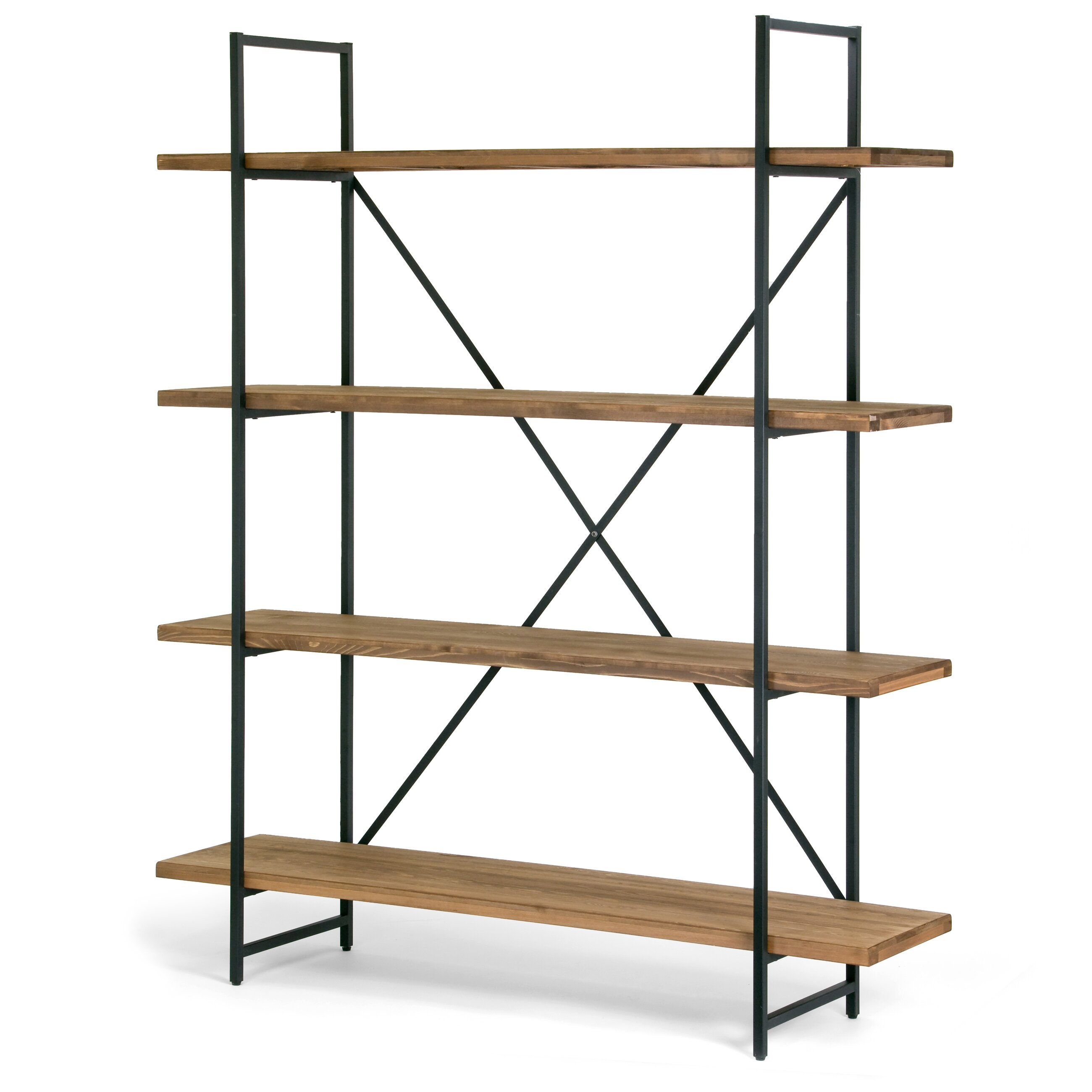 Glamour home decor ailis 75 etagere bookcase reviews for Decoration murale wayfair