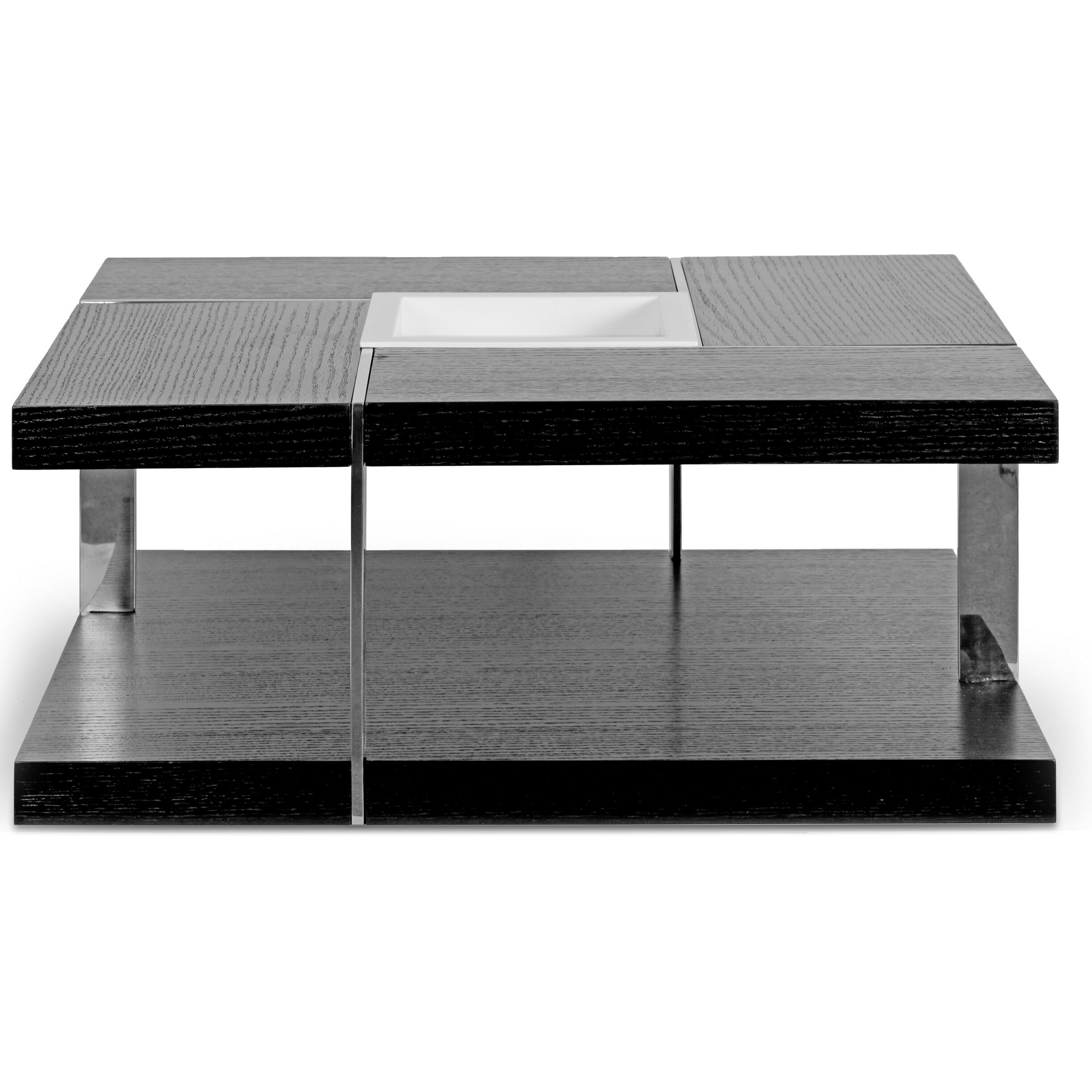Coffee Table With Tray Top: Glamour Home Decor Aira Square Coffee Table With Tray Top