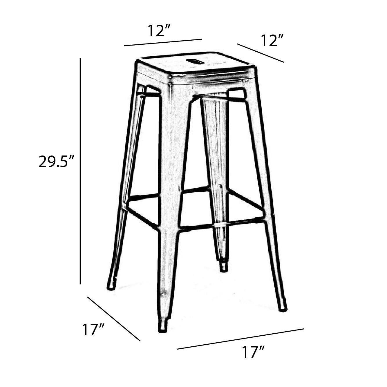 Design Lab Mn Dreux 30 Quot Bar Stool Amp Reviews Wayfair