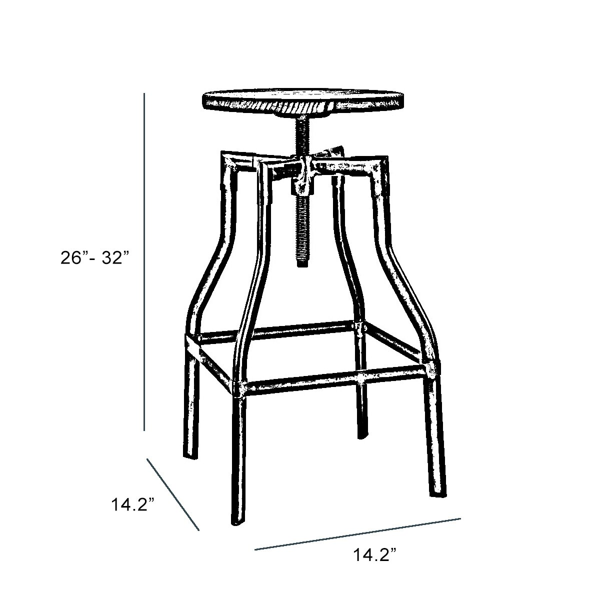 Design Lab MN Machinist Adjustable Height Swivel Bar Stool  : Design Lab MN Machinist Adjustable Height Swivel Bar Stool from www.wayfair.com size 1216 x 1216 jpeg 129kB