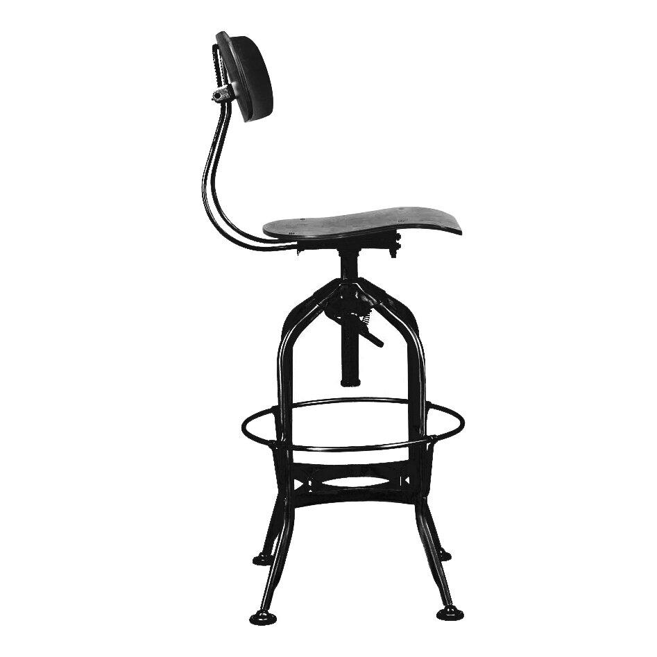 Design Lab Mn Toledo Adjustable Height Swivel Bar Stool