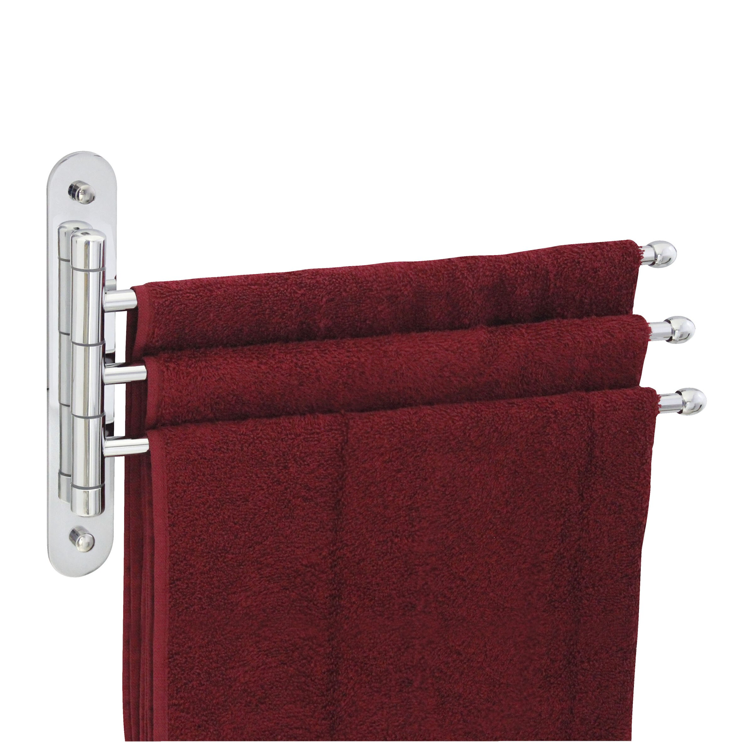 "Modona Triple Swing 15"" Wall Mounted Towel Bar"