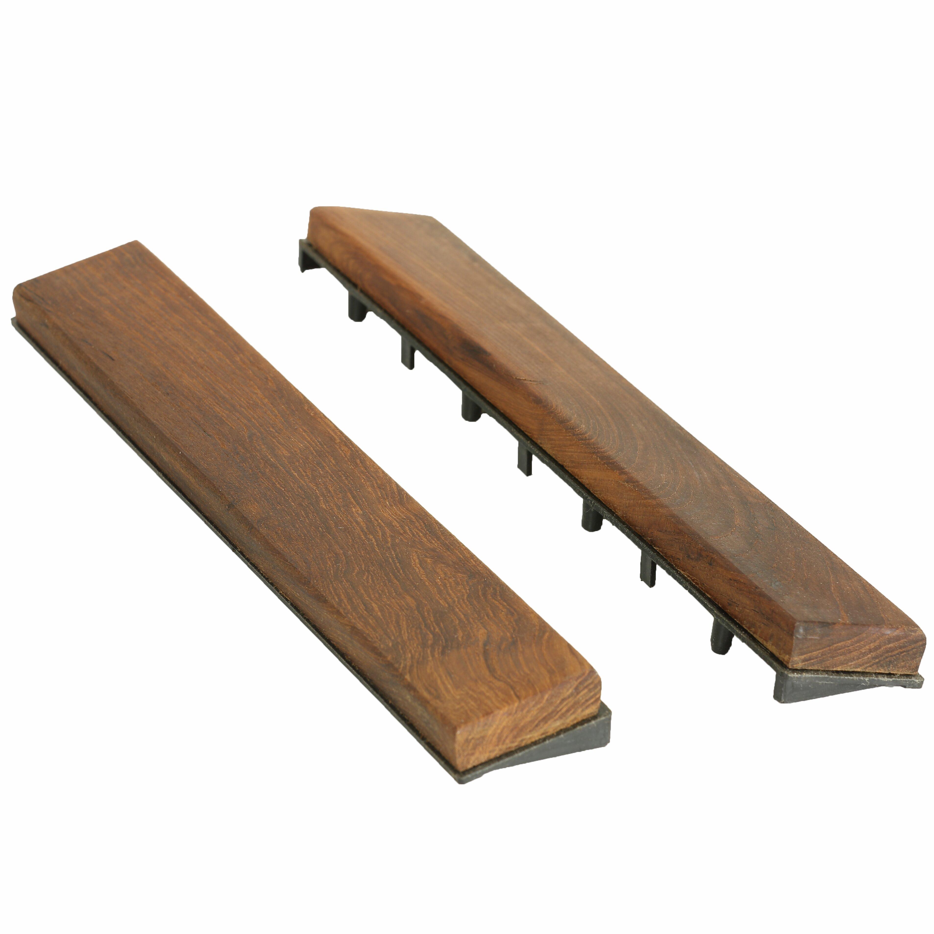 Baredecor Ez Floor Interlocking Flooring Wood 12 X 1 End