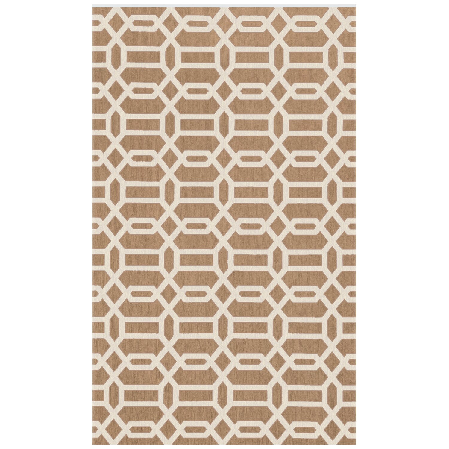Ruggable Tan And White Area Rug