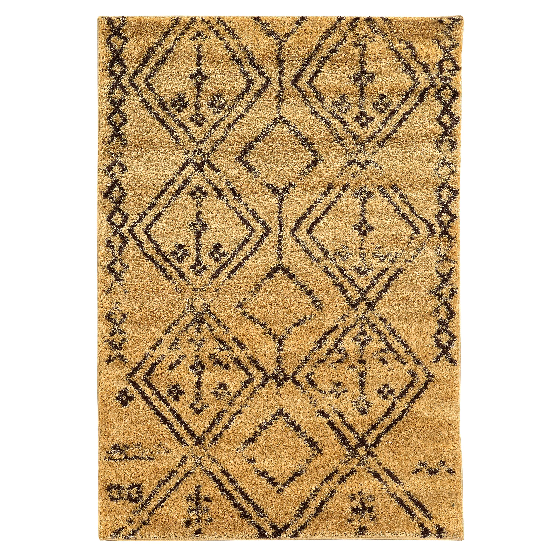 Shop Linon Moroccan Mekenes Camel Brown Rug: Threadbind Westland Camel/Brown Area Rug & Reviews