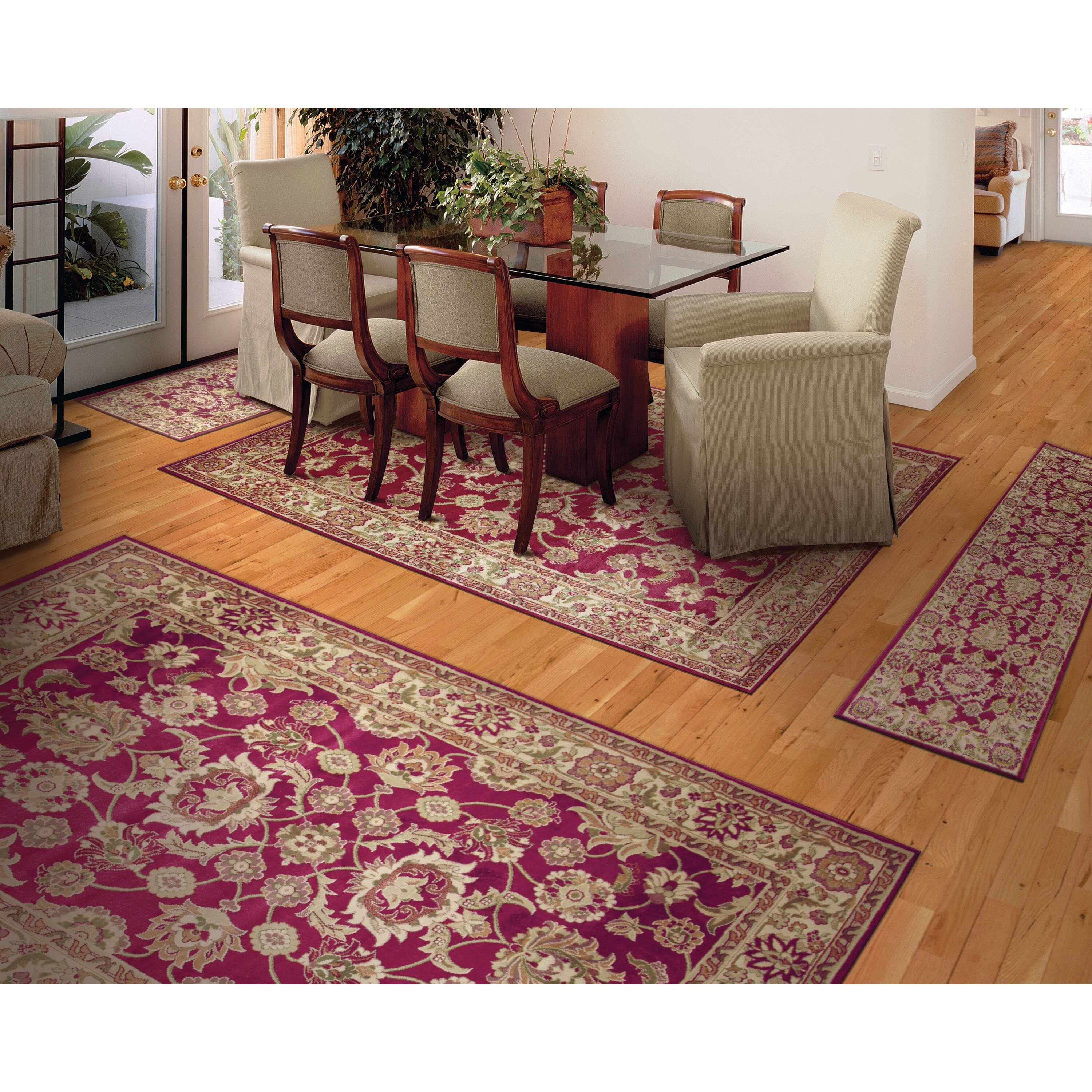 Threadbind Maxine Gold Yellow 4 Piece Area Rug Set