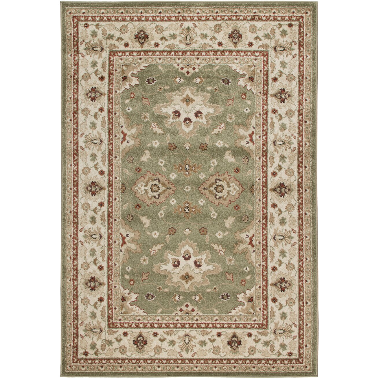 Threadbind montrose green indoor outdoor area rug for Indoor out door rugs